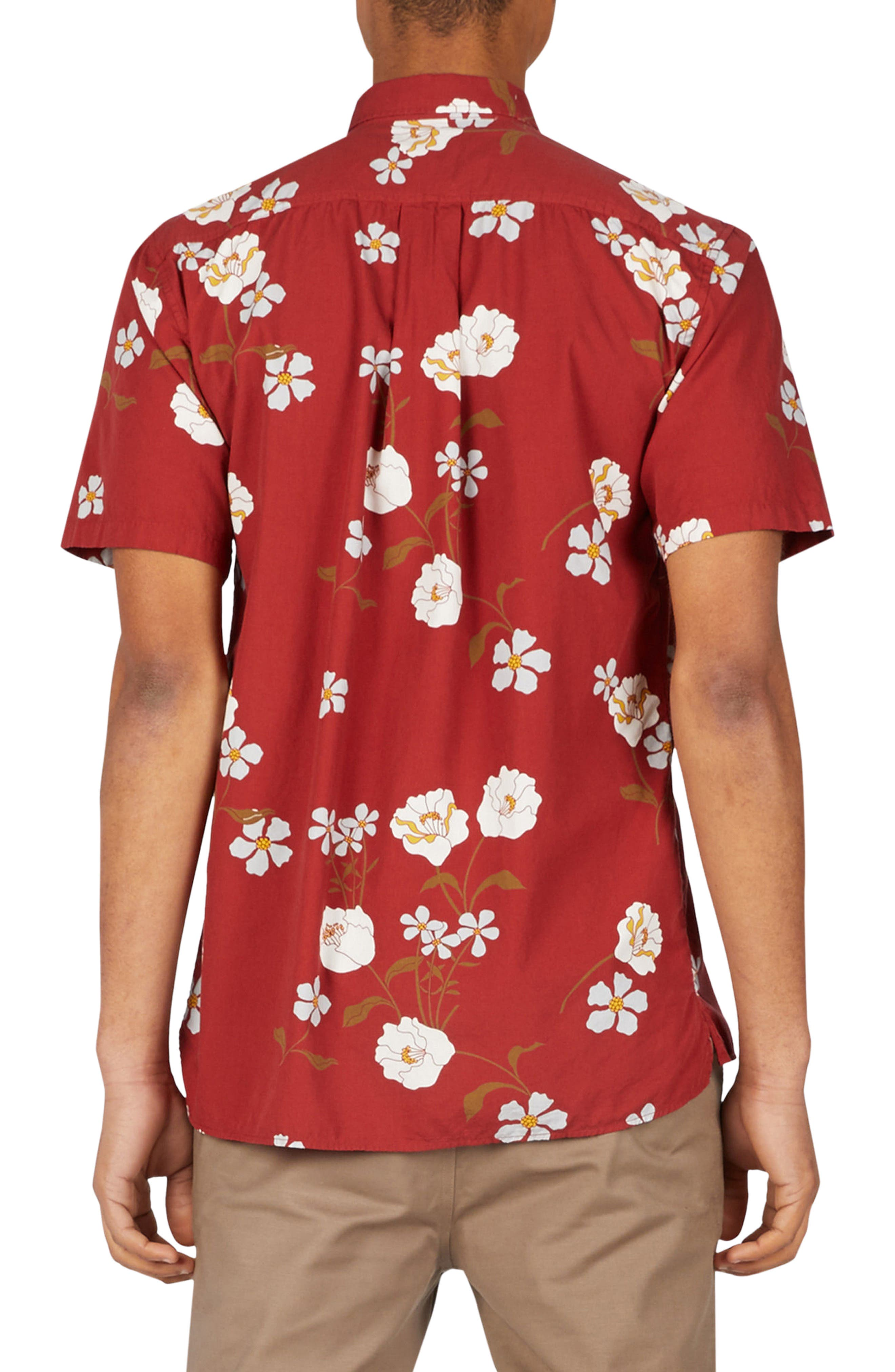 Floral Woven Shirt,                             Alternate thumbnail 2, color,                             601