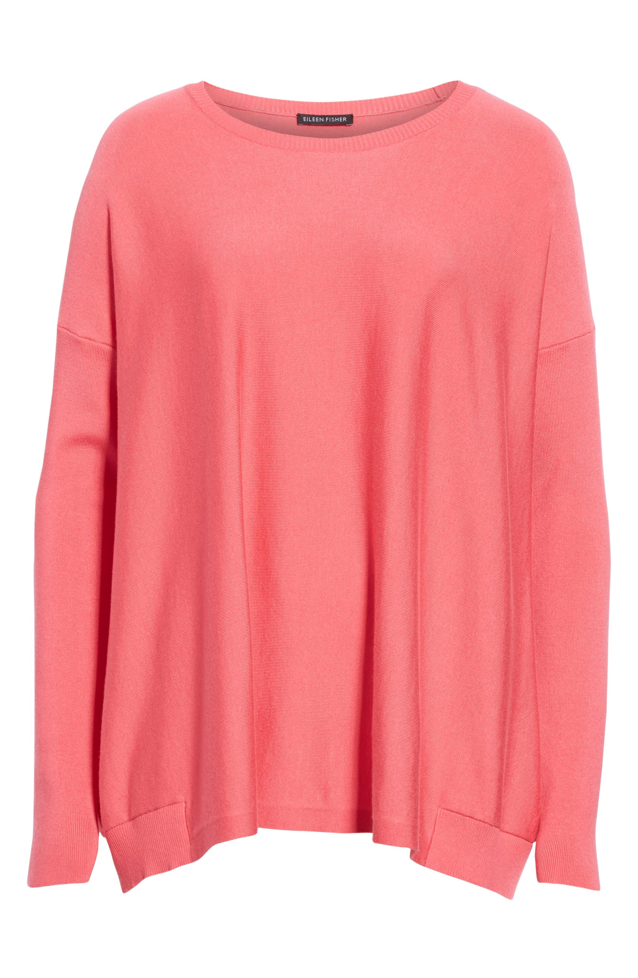 Tencel<sup>®</sup> Lyocell Blend Sweater,                             Alternate thumbnail 6, color,                             CHERRY LANE