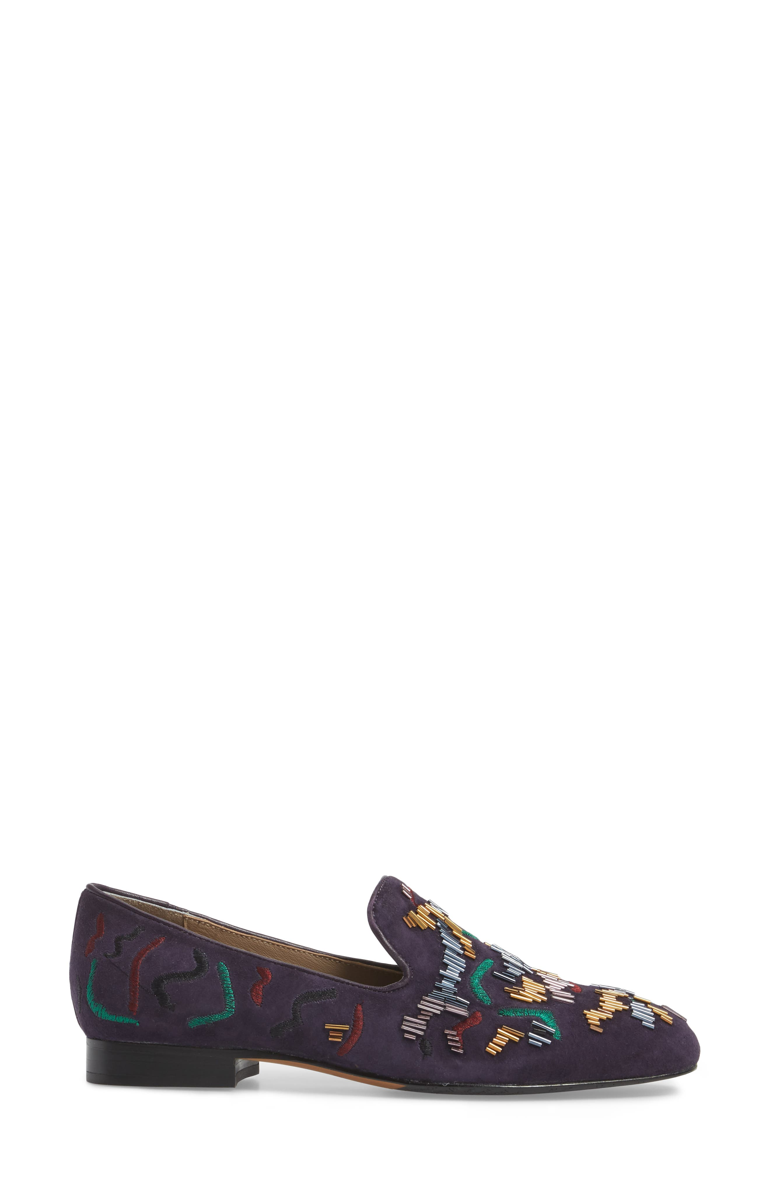 Leanne Beaded Loafer,                             Alternate thumbnail 3, color,                             654