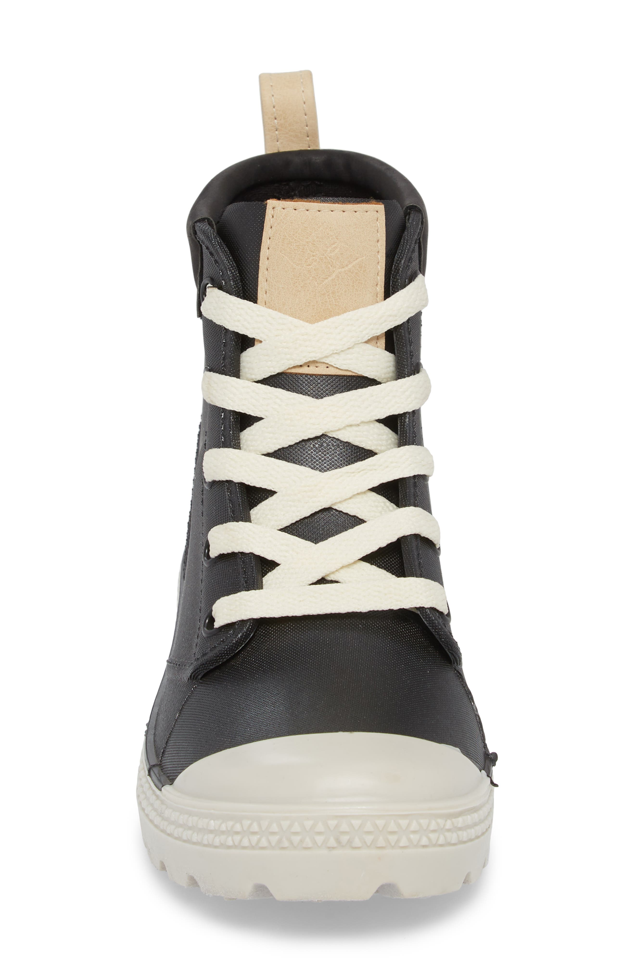 DÄV,                             Melrose Waterproof Sneaker Boot,                             Alternate thumbnail 4, color,                             BLACK