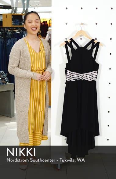 High/Low Jeweled Waist Dress, sales video thumbnail