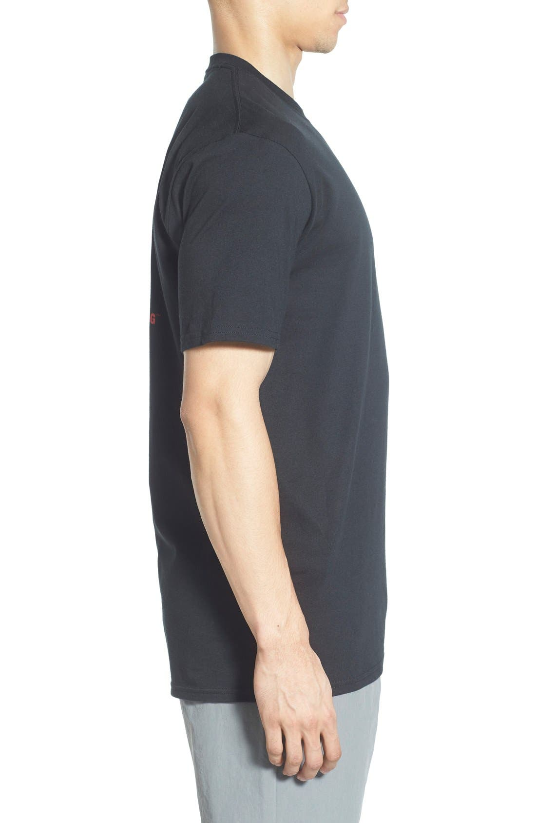 'Red Box' Graphic T-Shirt,                             Alternate thumbnail 5, color,                             TNF BLACK/ TNF WHITE
