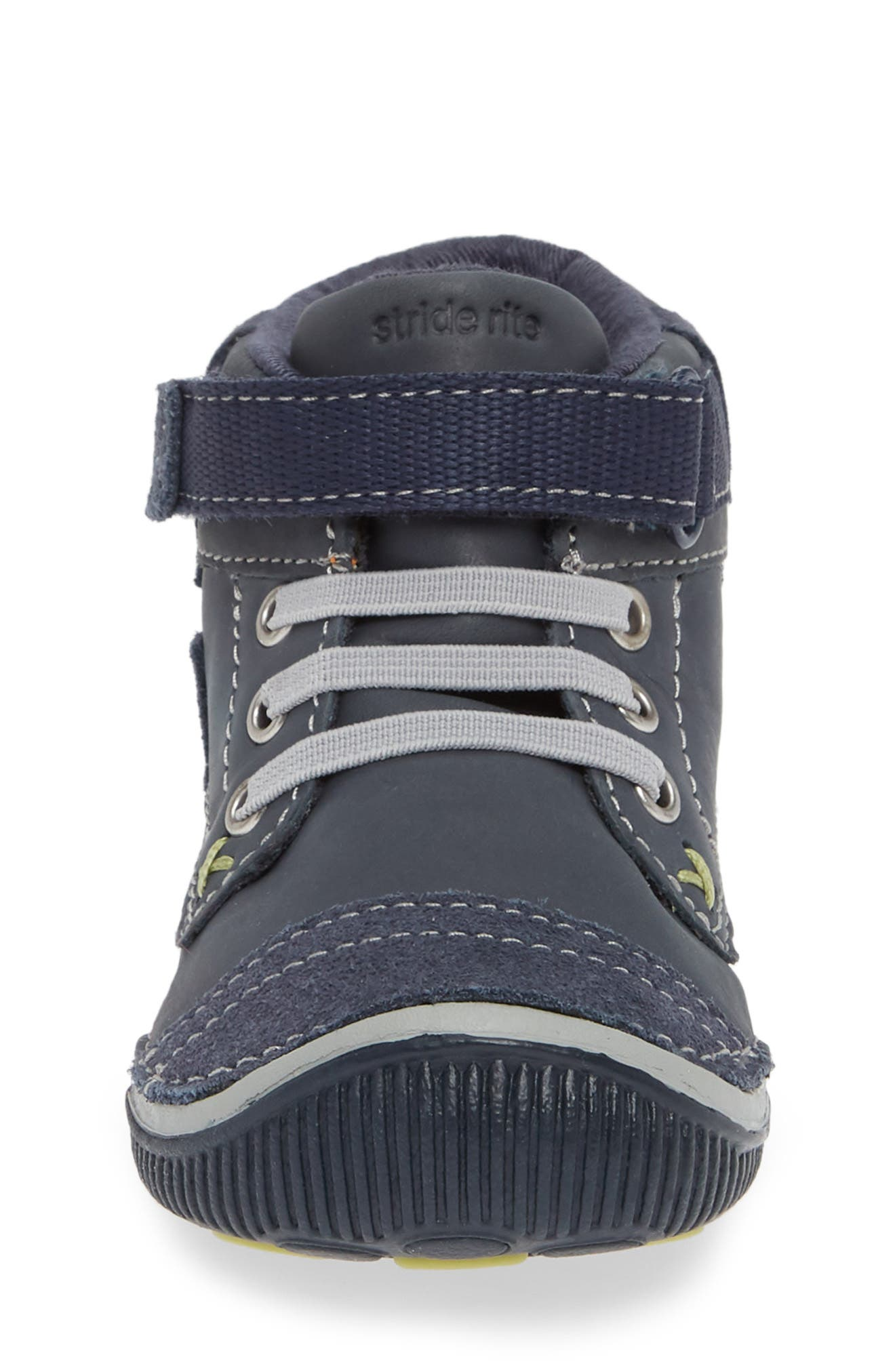 'Garrett' High Top Bootie Sneaker,                             Alternate thumbnail 4, color,                             NAVY