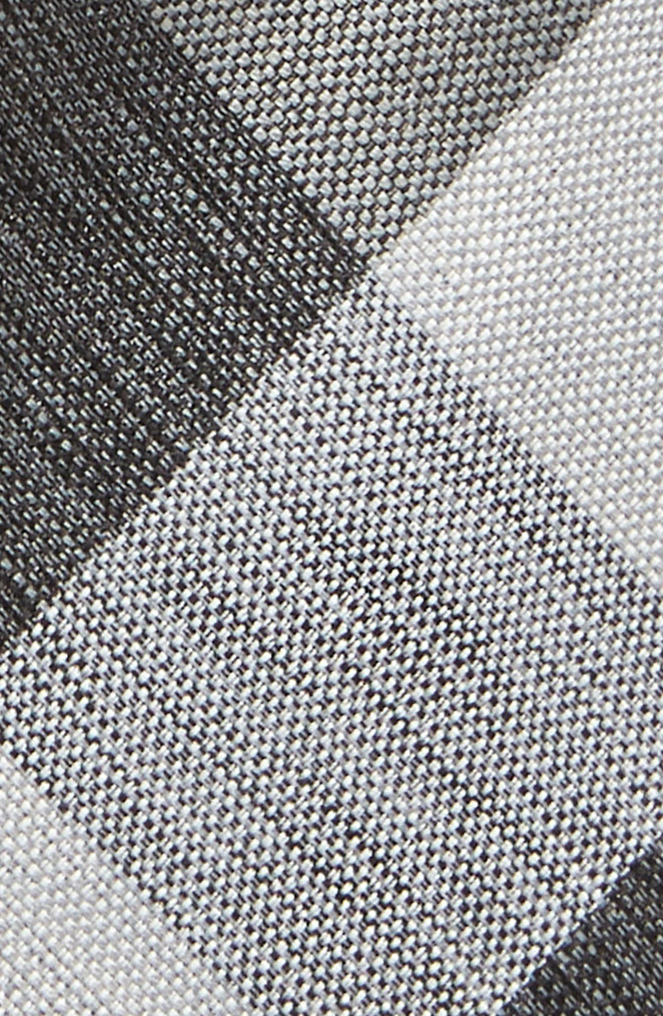 Check Cotton & Silk Tie,                             Alternate thumbnail 2, color,                             GREY