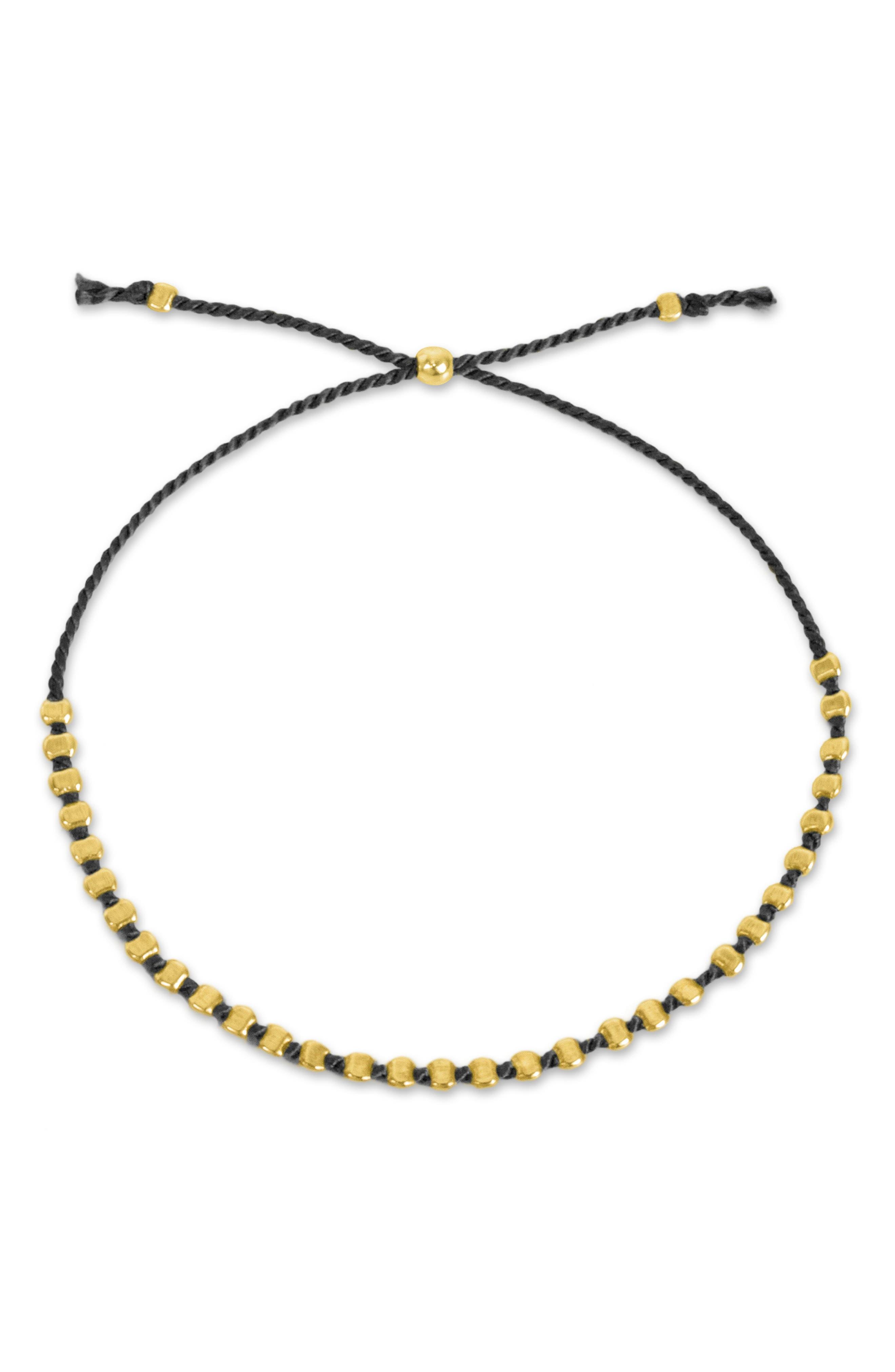 DOGEARED,                             Flat Bead Friendship Bracelet,                             Alternate thumbnail 2, color,                             710