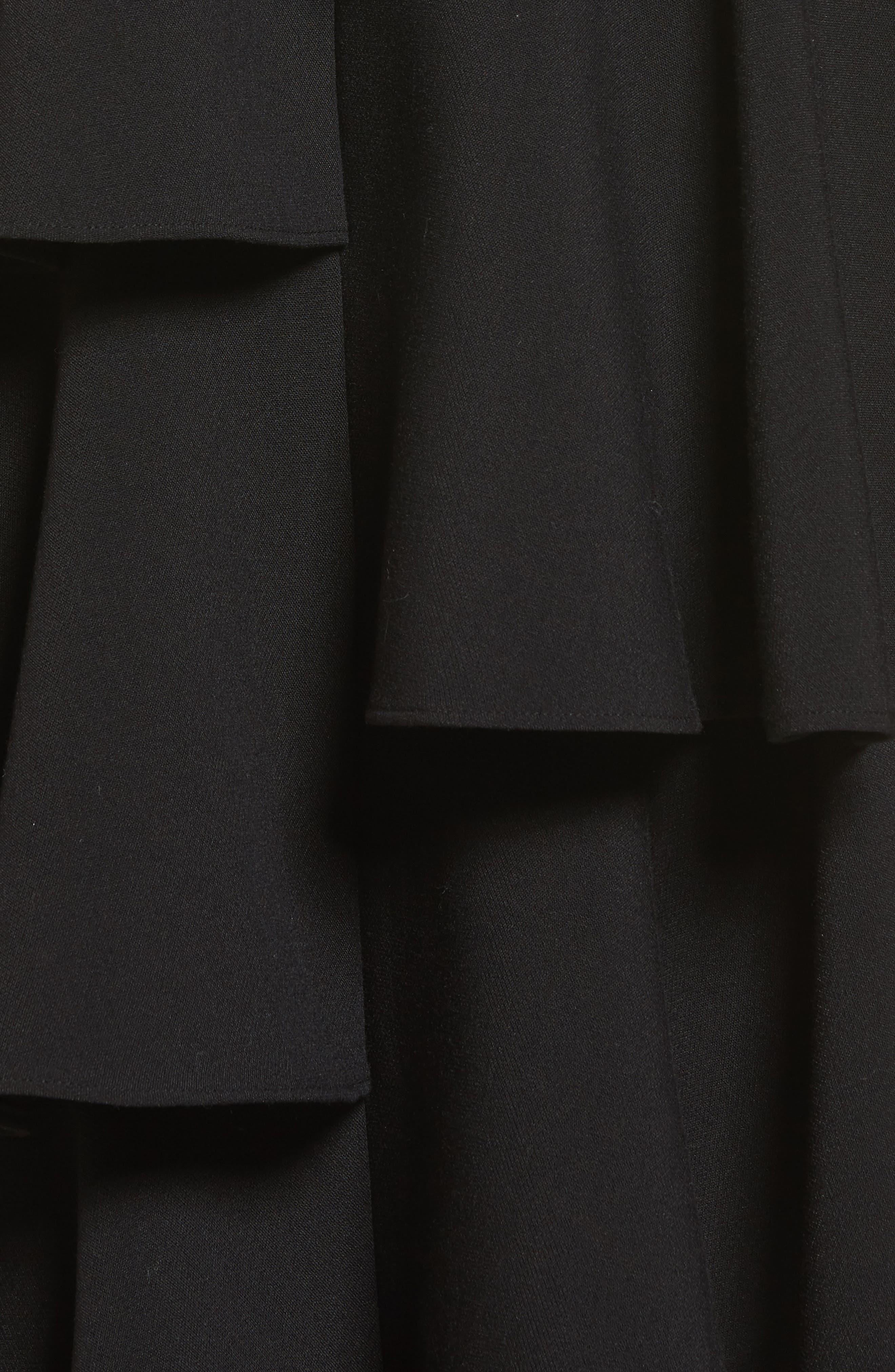 Tiered Ruffle Midi Skirt,                             Alternate thumbnail 5, color,                             001