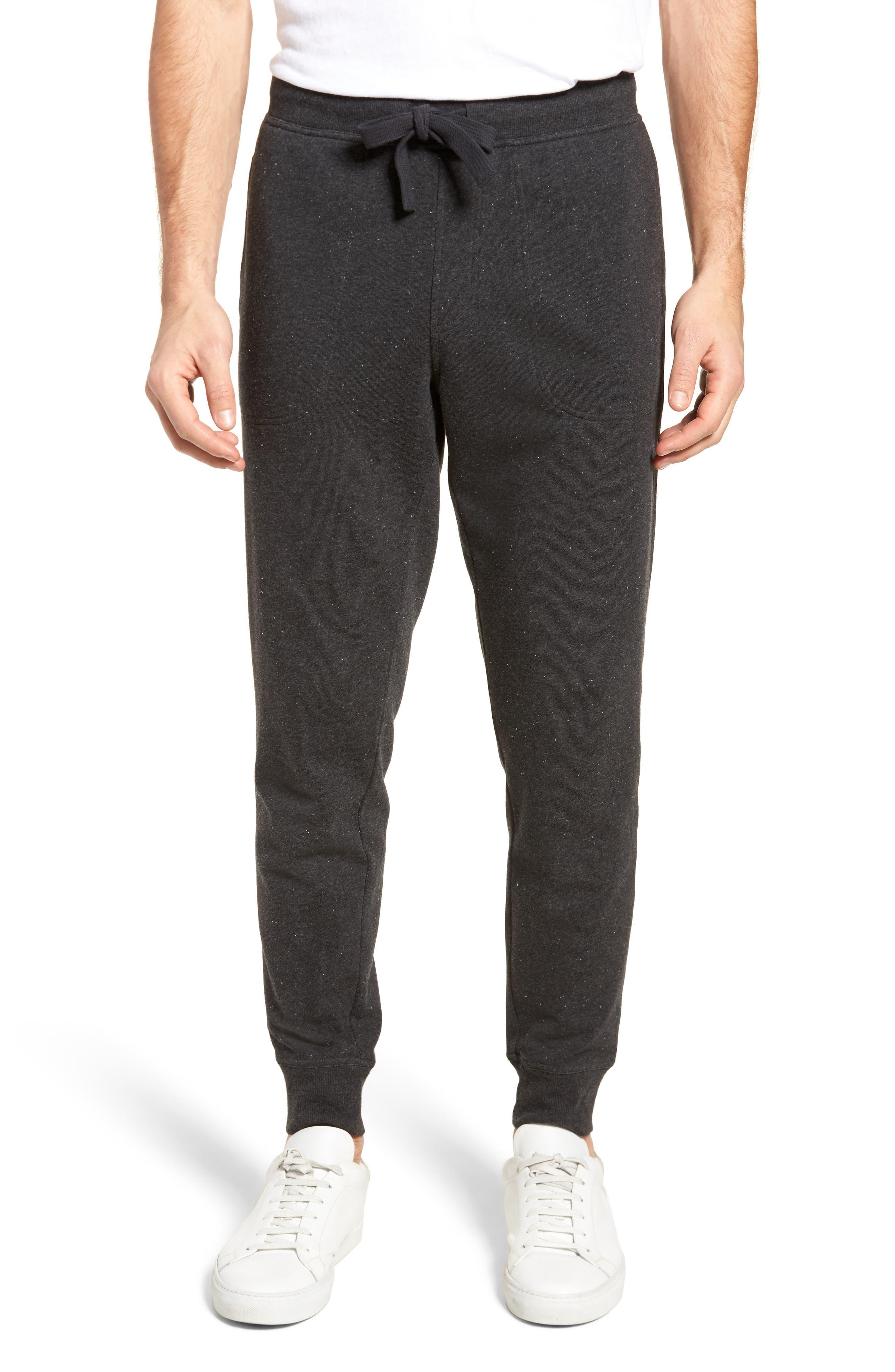 Jakob Terry Cotton Blend Lounge Pants,                         Main,                         color, BLACK