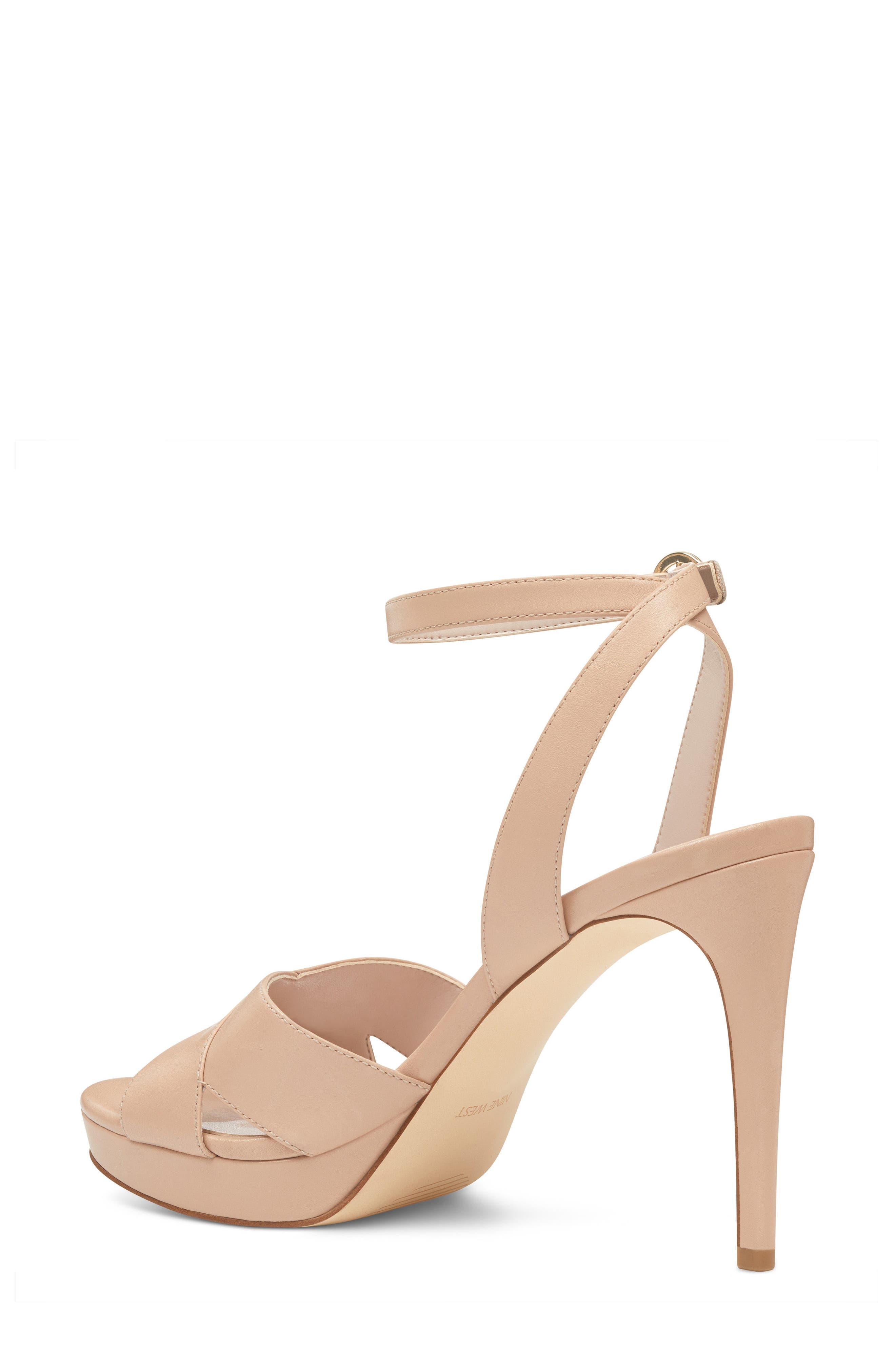 Quisha Ankle Strap Sandal,                             Alternate thumbnail 2, color,                             LIGHT NATURAL LEATHER