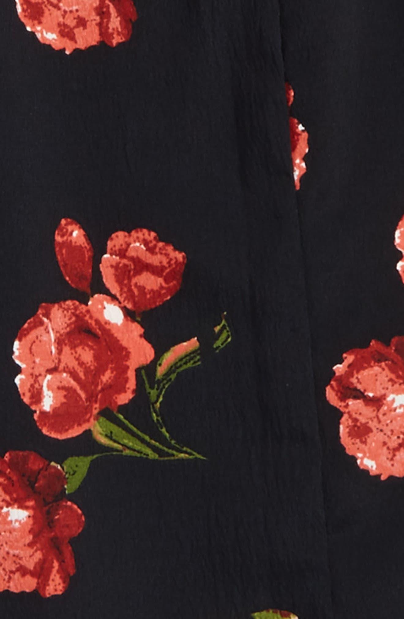 Rose Print Wide Leg Pants,                             Alternate thumbnail 2, color,                             006