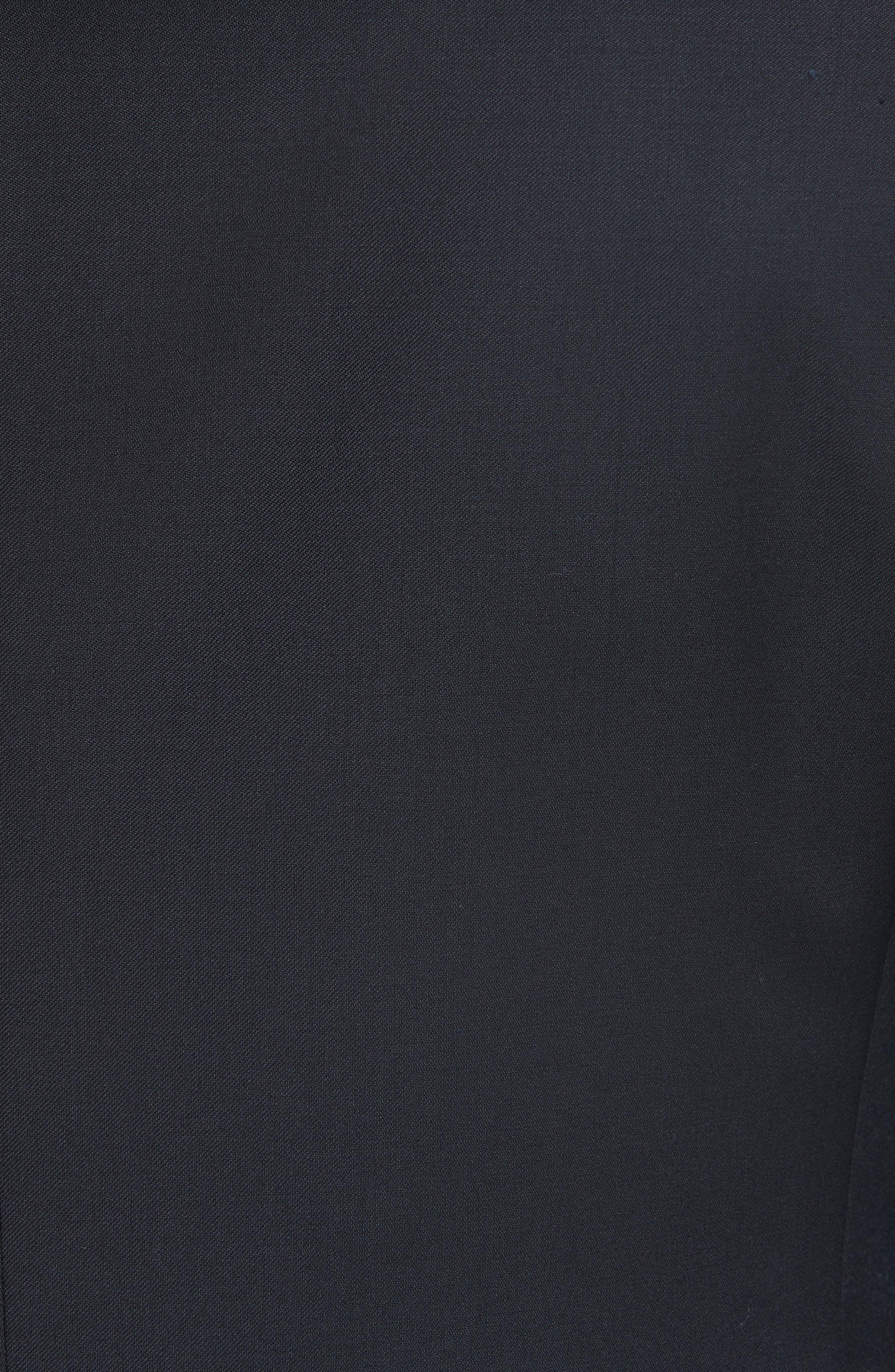 Classic Fit Solid Wool Suit,                             Alternate thumbnail 7, color,                             BLACK