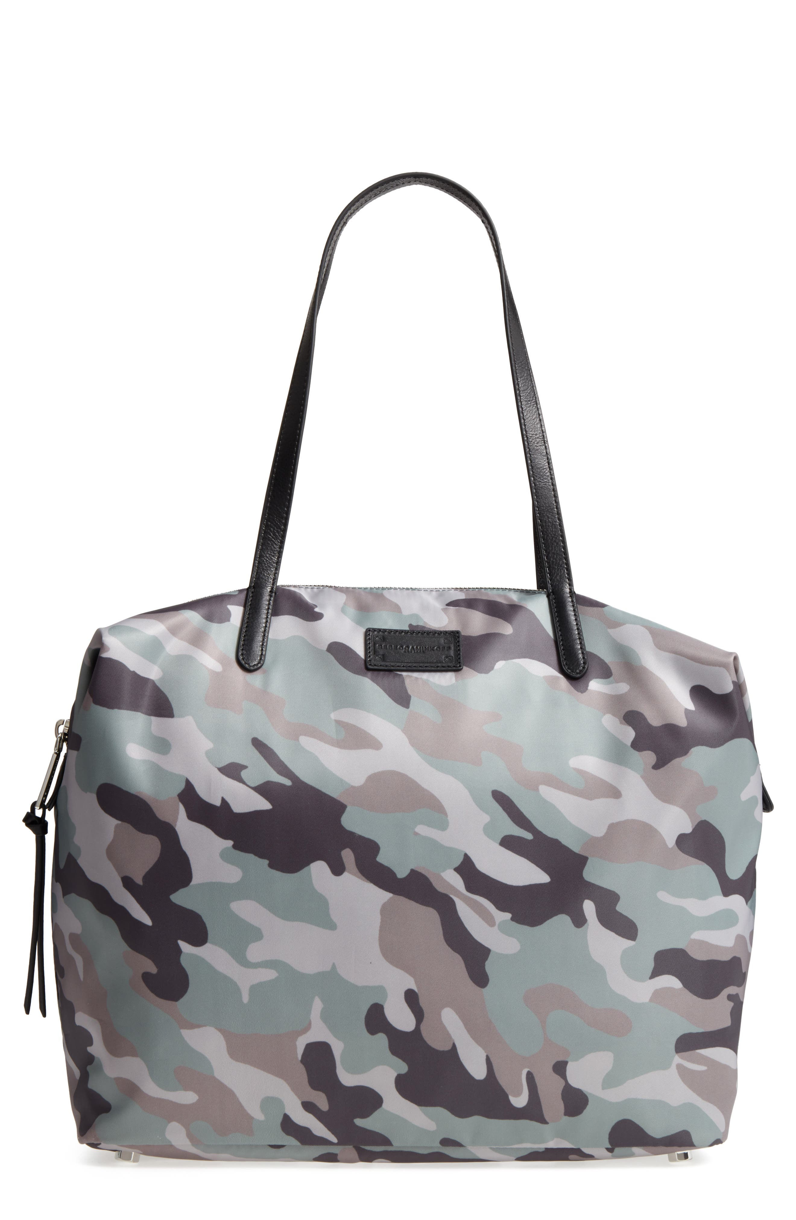 Washed Nylon Tote - Green in Army