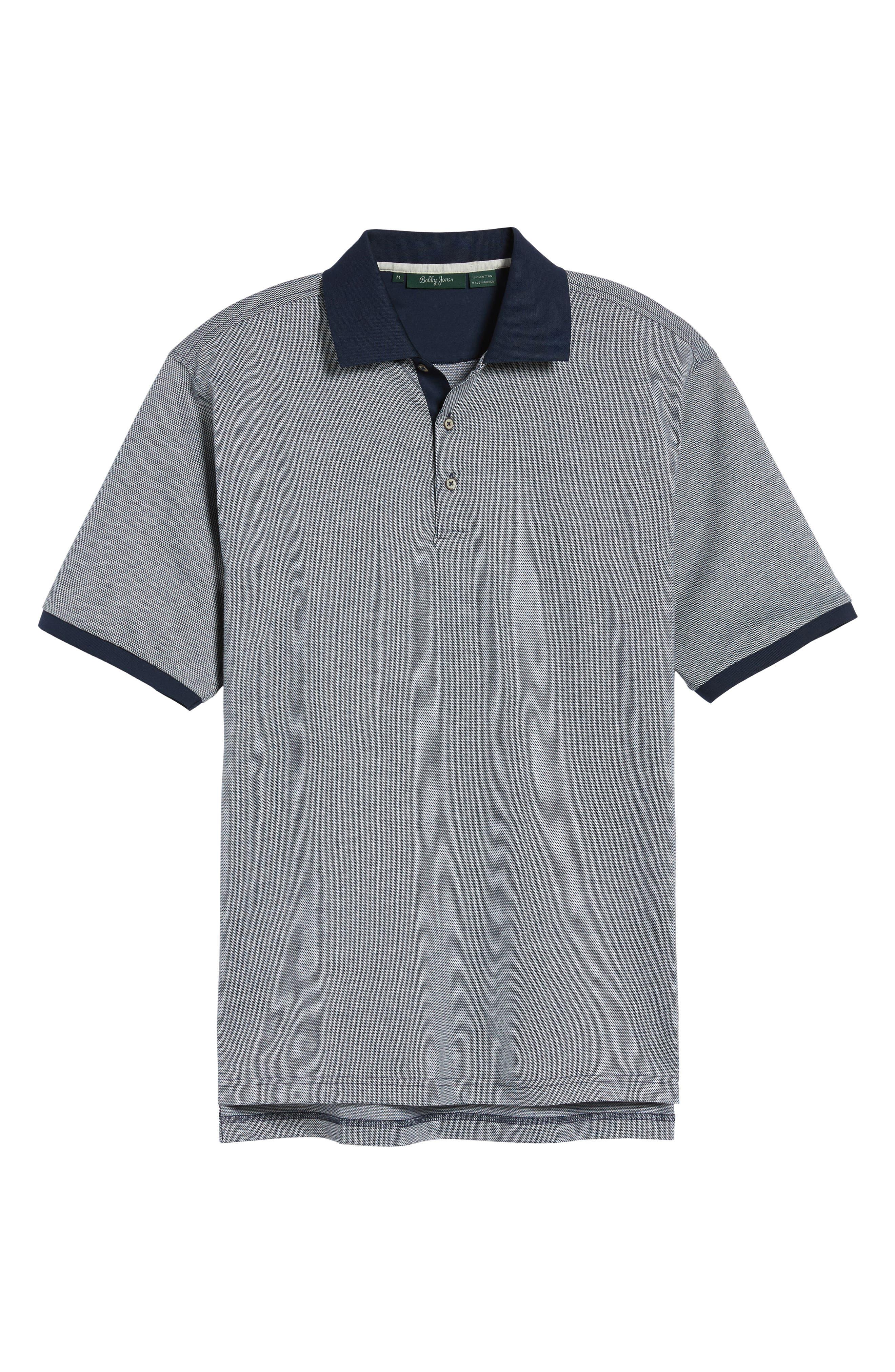 Verde Jacquard Mercerized Cotton Polo,                             Alternate thumbnail 6, color,                             400