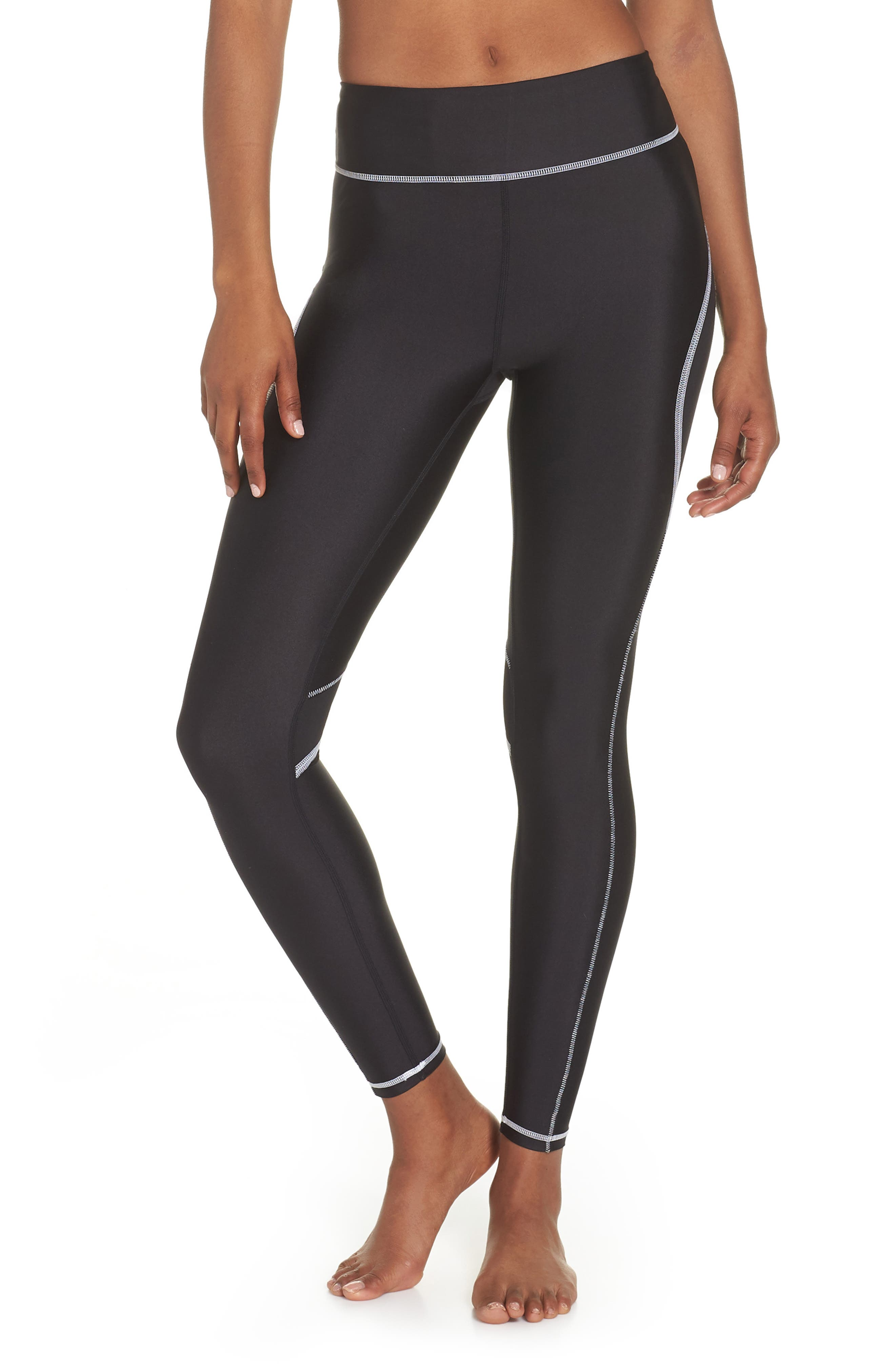 Surf Tights,                             Main thumbnail 1, color,                             BLACK/ WHITE