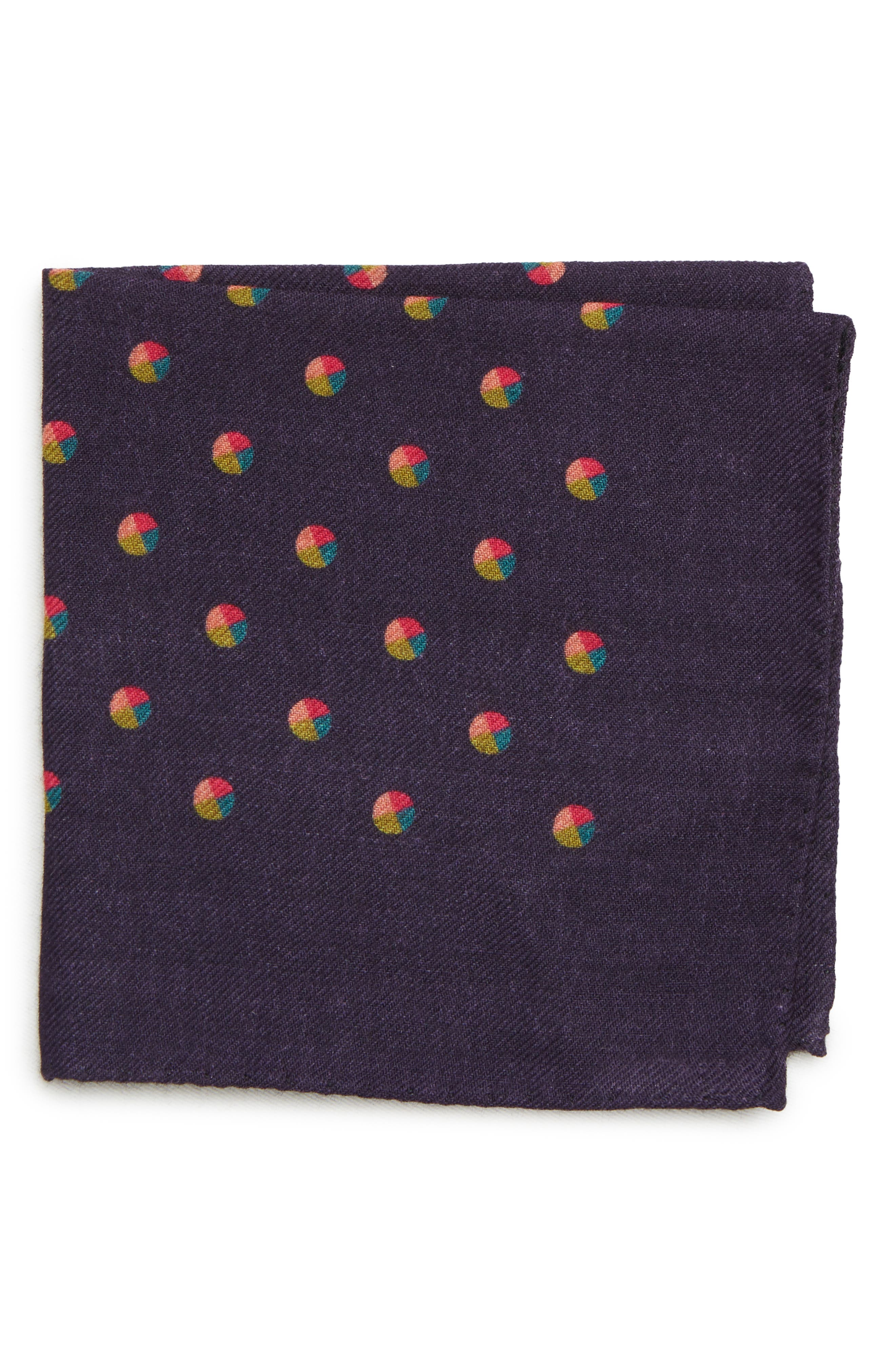 Dot Wool Pocket Square,                         Main,                         color, 400