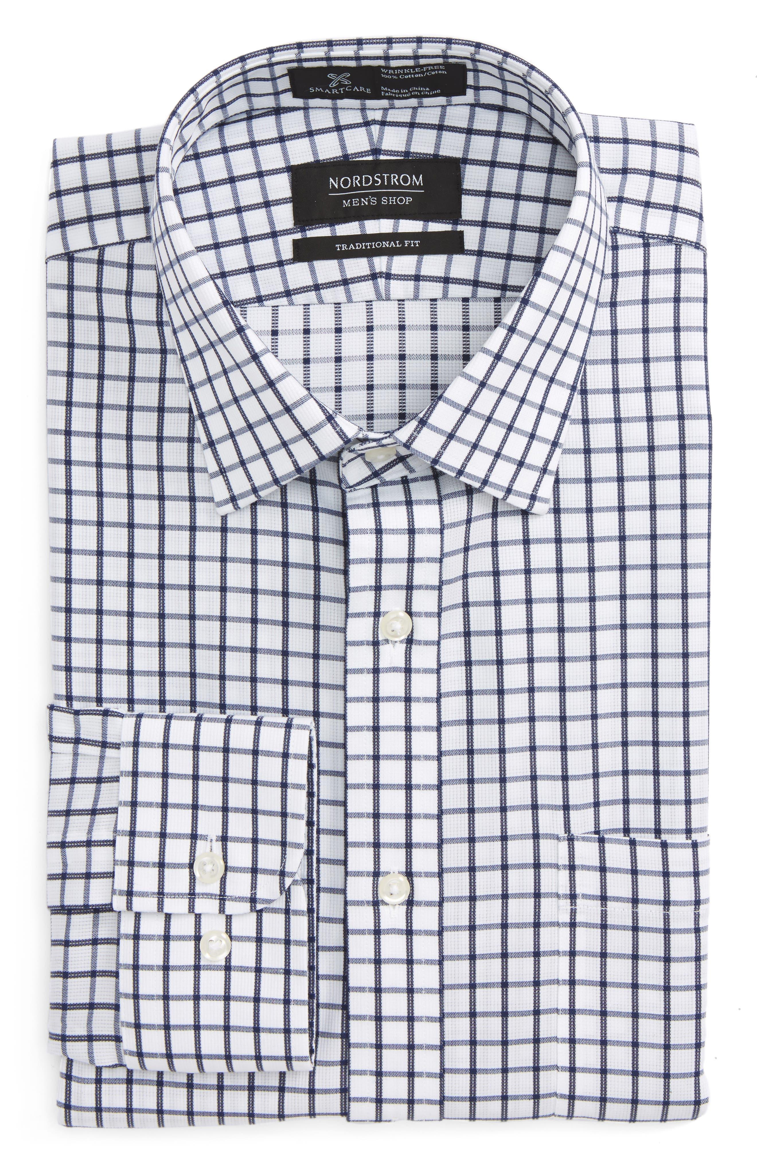 Smartcare<sup>™</sup> Traditional Fit Check Dress Shirt,                             Main thumbnail 1, color,                             410