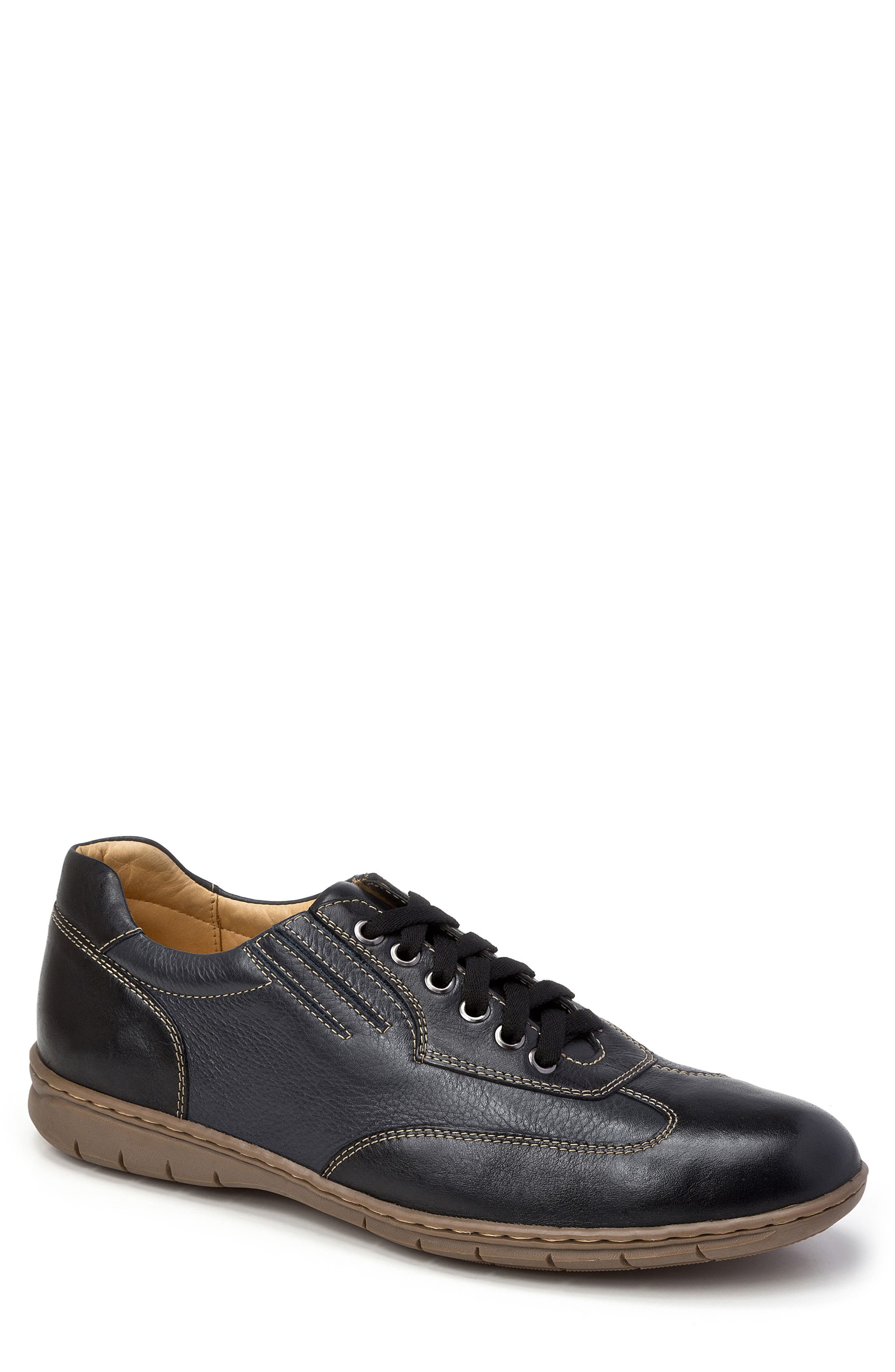 Vernon Sneaker,                             Main thumbnail 1, color,                             BLACK LEATHER