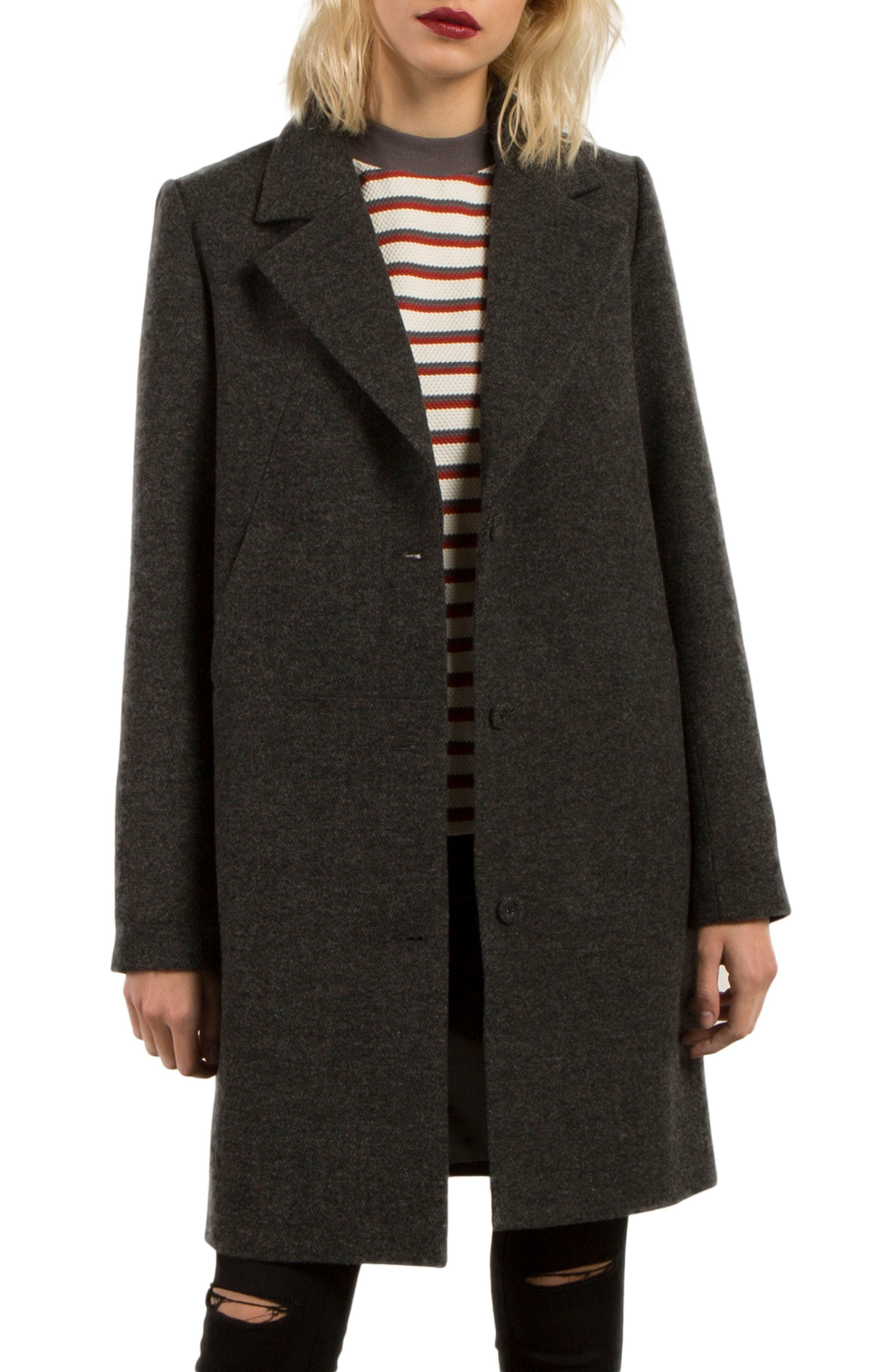 Smart Farce Coat,                             Main thumbnail 1, color,                             001