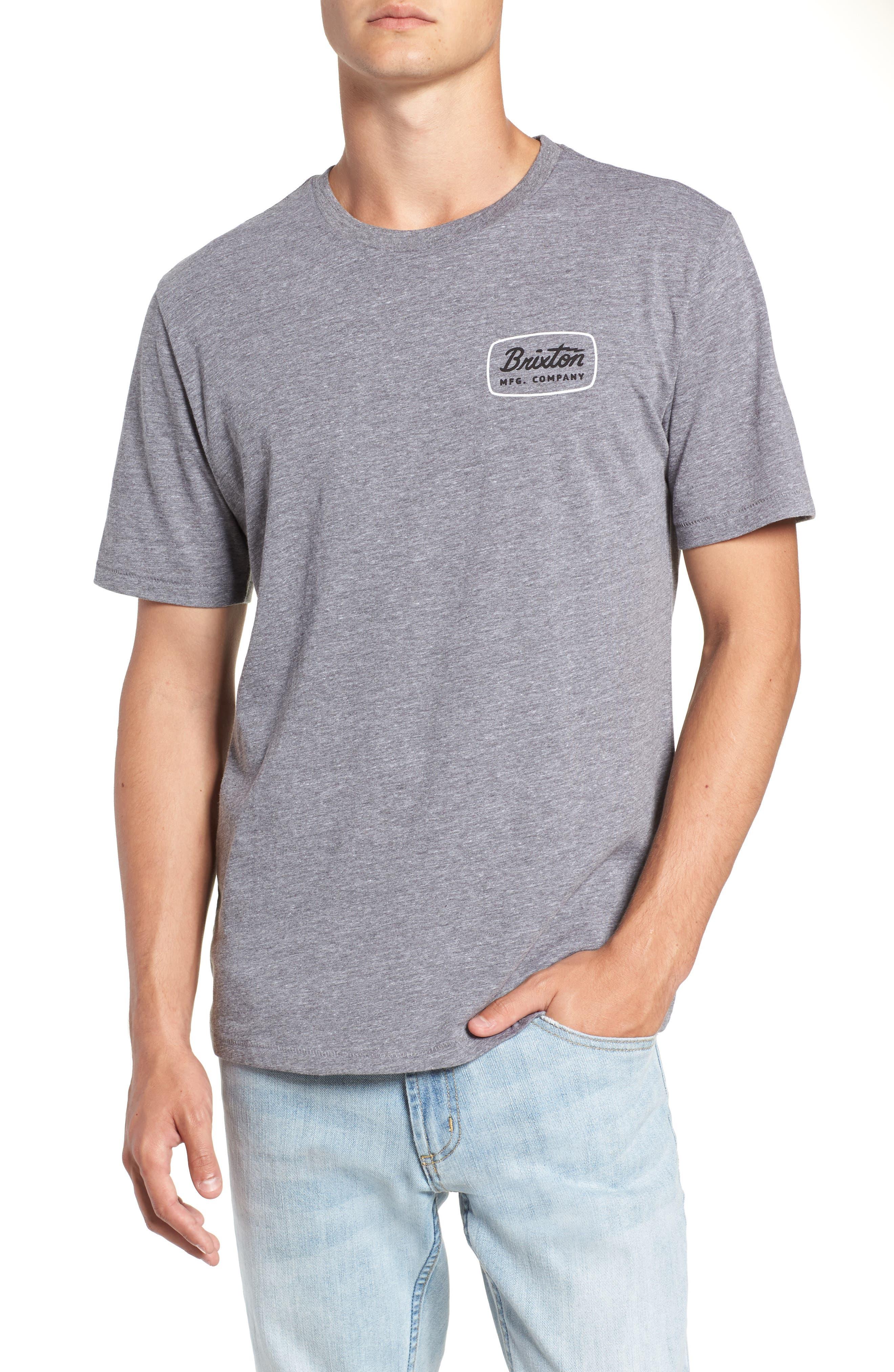 Jolt T-Shirt,                         Main,                         color, HEATHER GREY/ WHITE