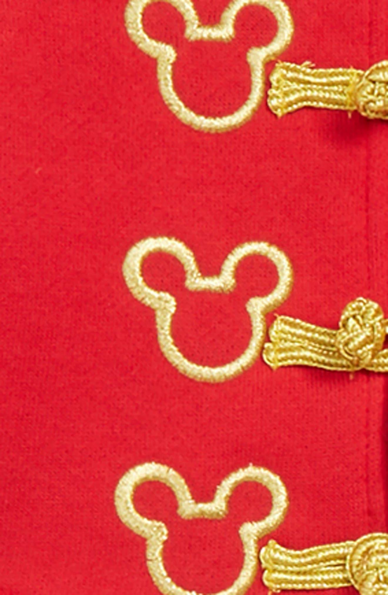 x Disney Mickey Majorette Jacket & Mesh Dress Set,                             Alternate thumbnail 3, color,                             RED/ GOLD