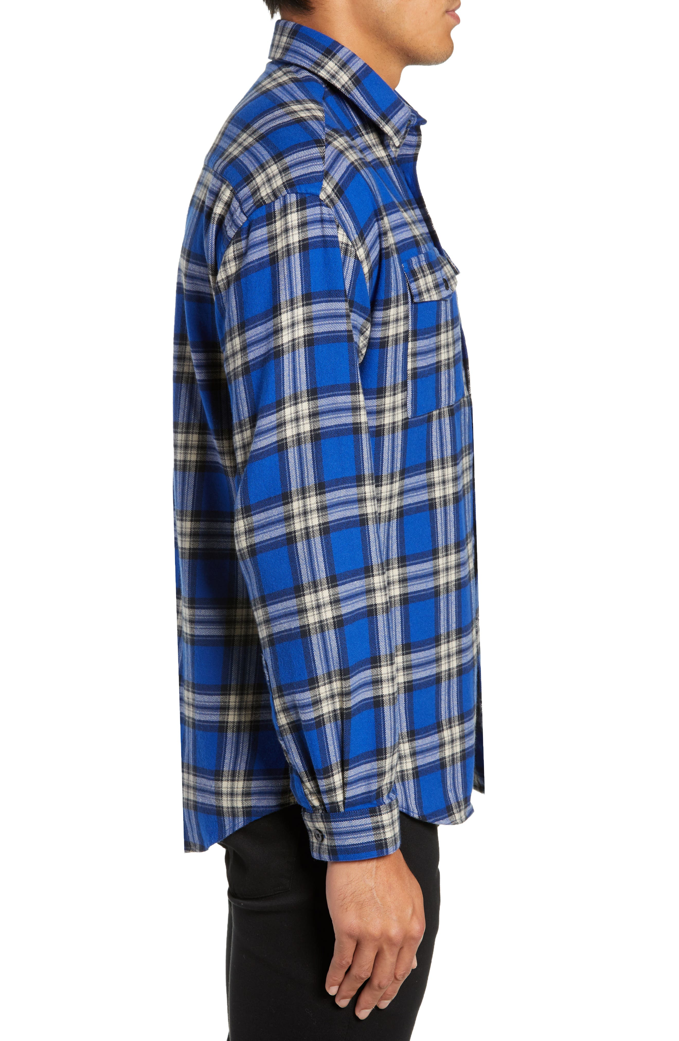 THE KOOPLES,                             Check Flannel Shirt,                             Alternate thumbnail 4, color,                             400