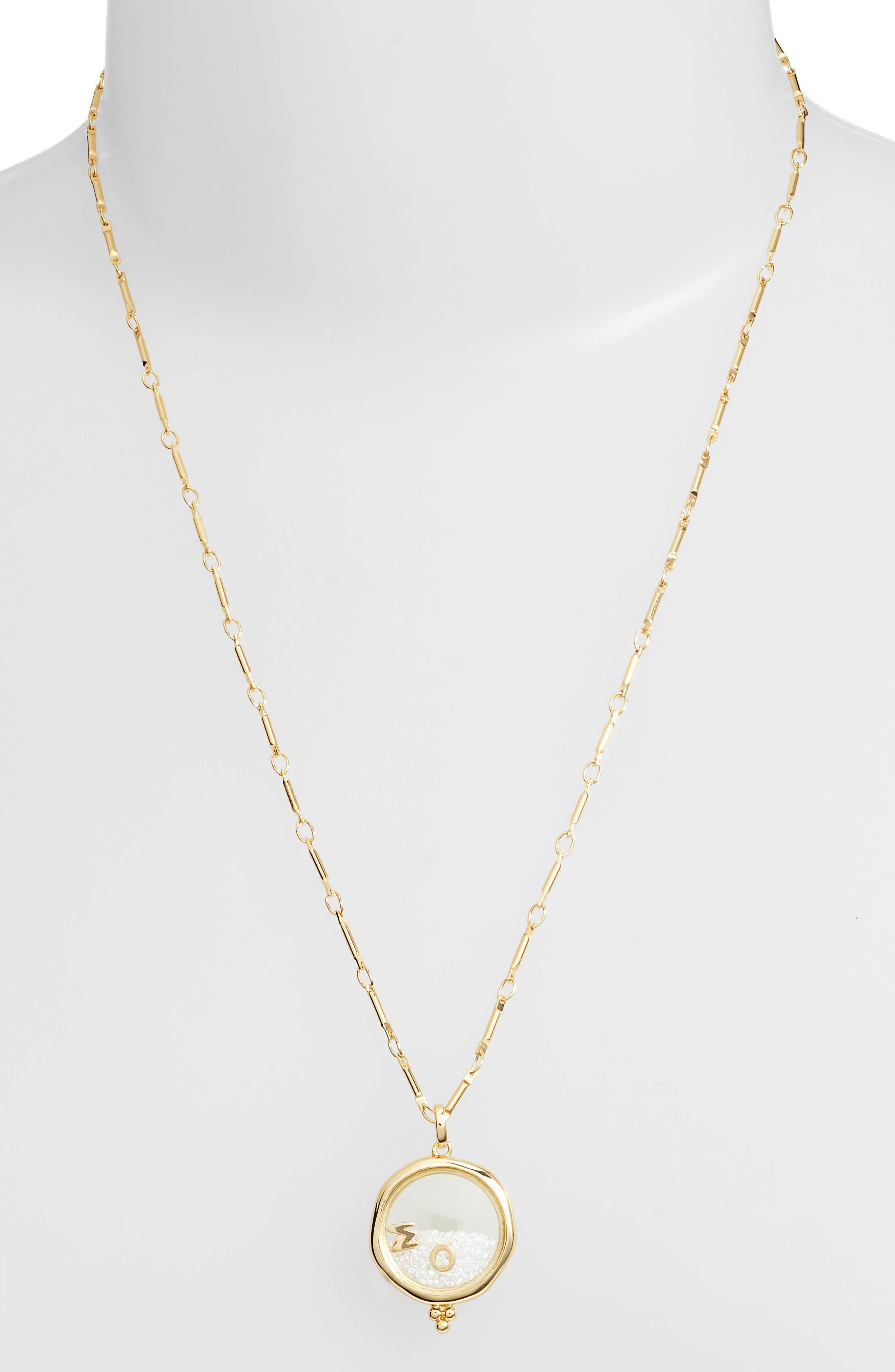 x Kristina Schulman Mom Shaker Pendant Necklace,                             Alternate thumbnail 2, color,                             GOLD