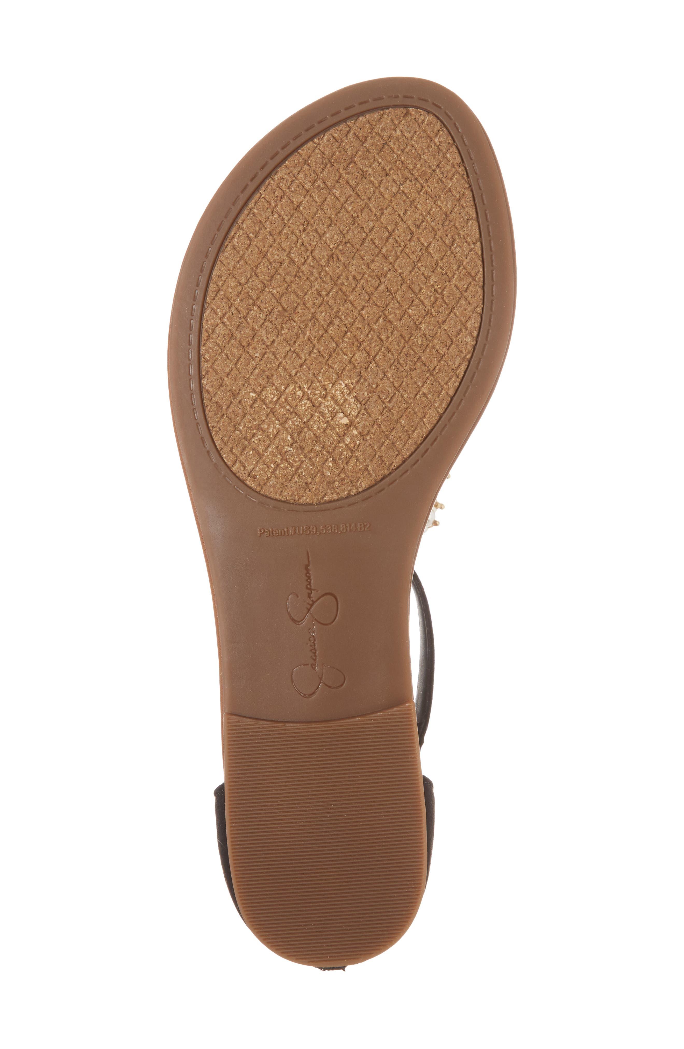 Kenton Crystal Embellished Sandal,                             Alternate thumbnail 6, color,                             001