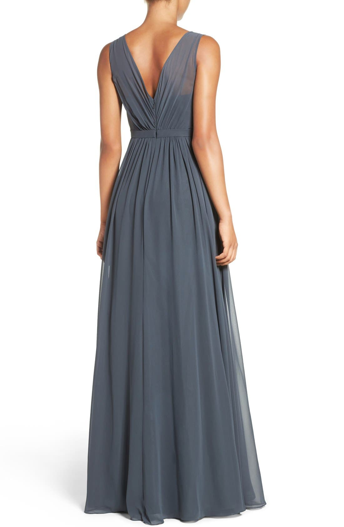 Vivienne Pleated Chiffon Gown,                             Alternate thumbnail 38, color,