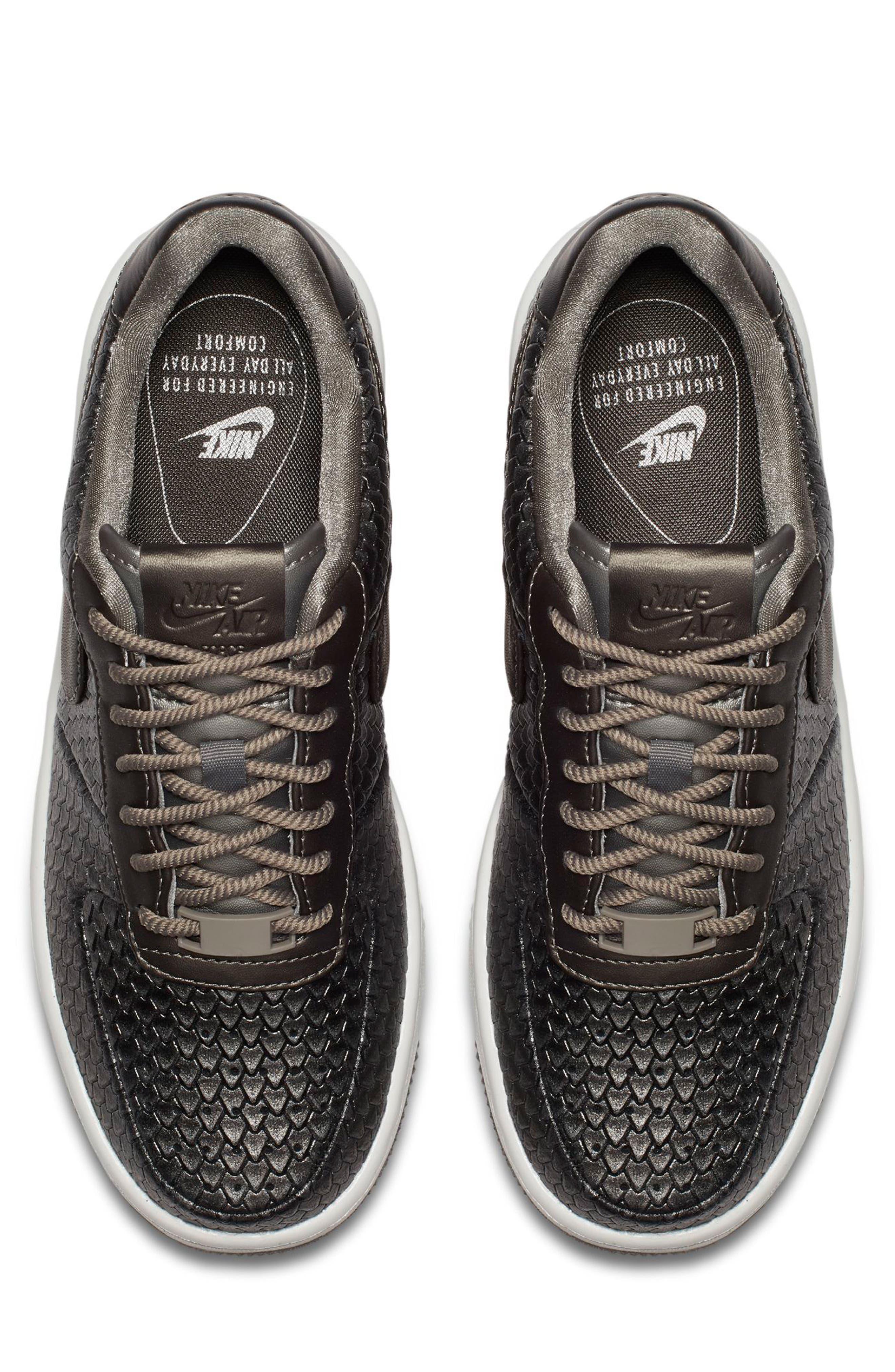 Air Force 1 Upstep Premium Platform Sneaker,                             Alternate thumbnail 4, color,                             022