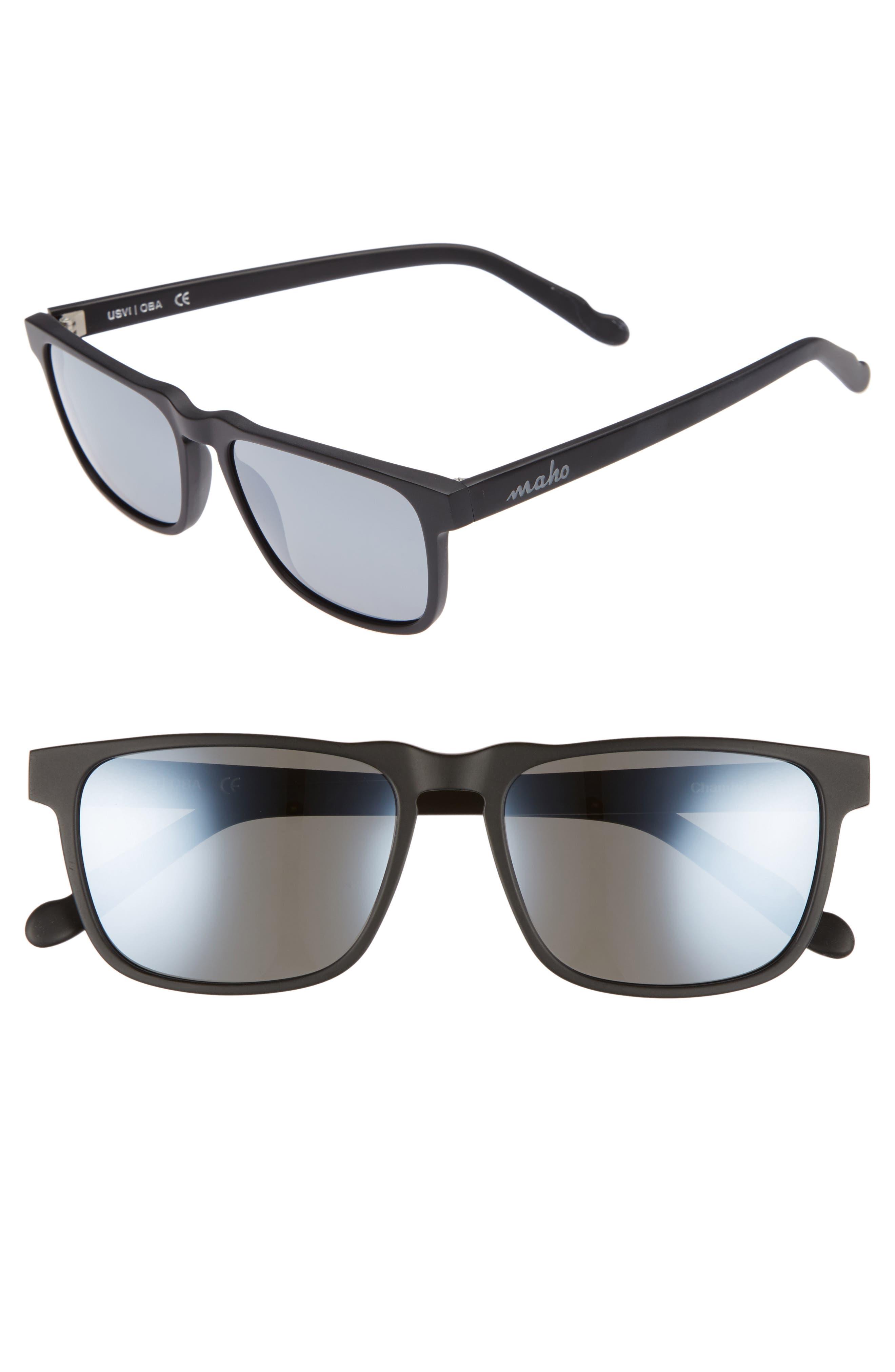 Chandeleur 59mm Polarized Aviator Sunglasses,                         Main,                         color, 020