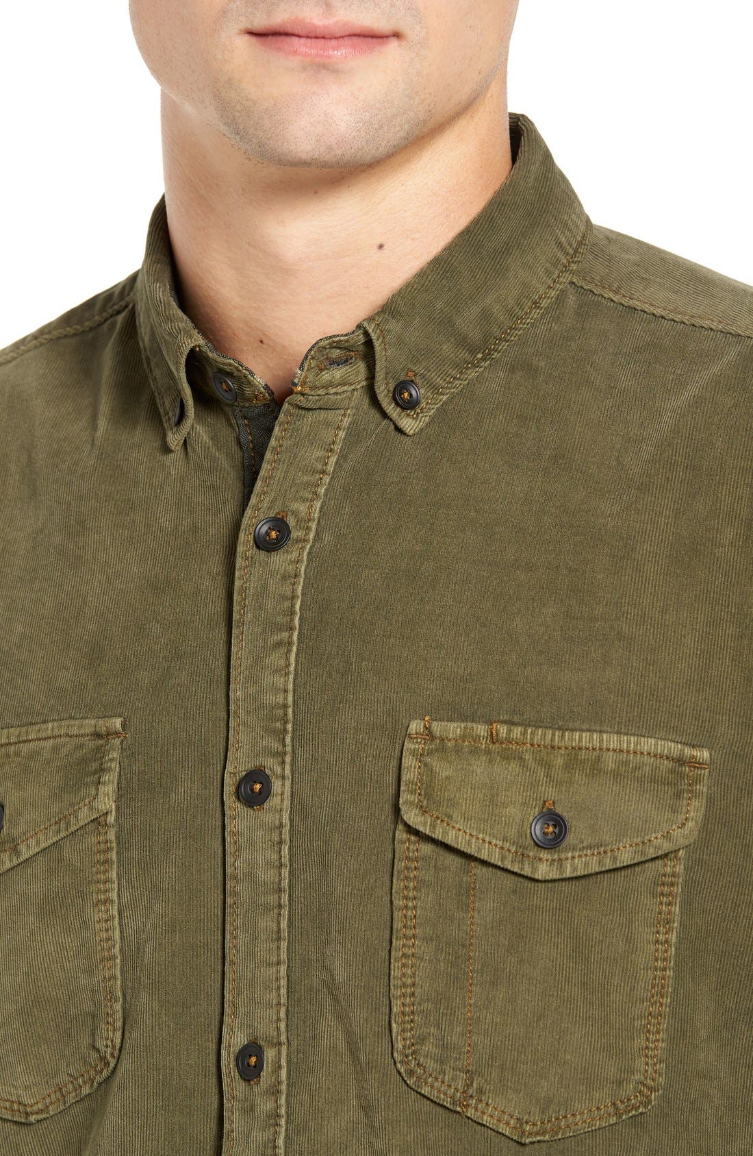 'Jaymes' Pigment Dyed Corduroy Shirt,                             Alternate thumbnail 15, color,