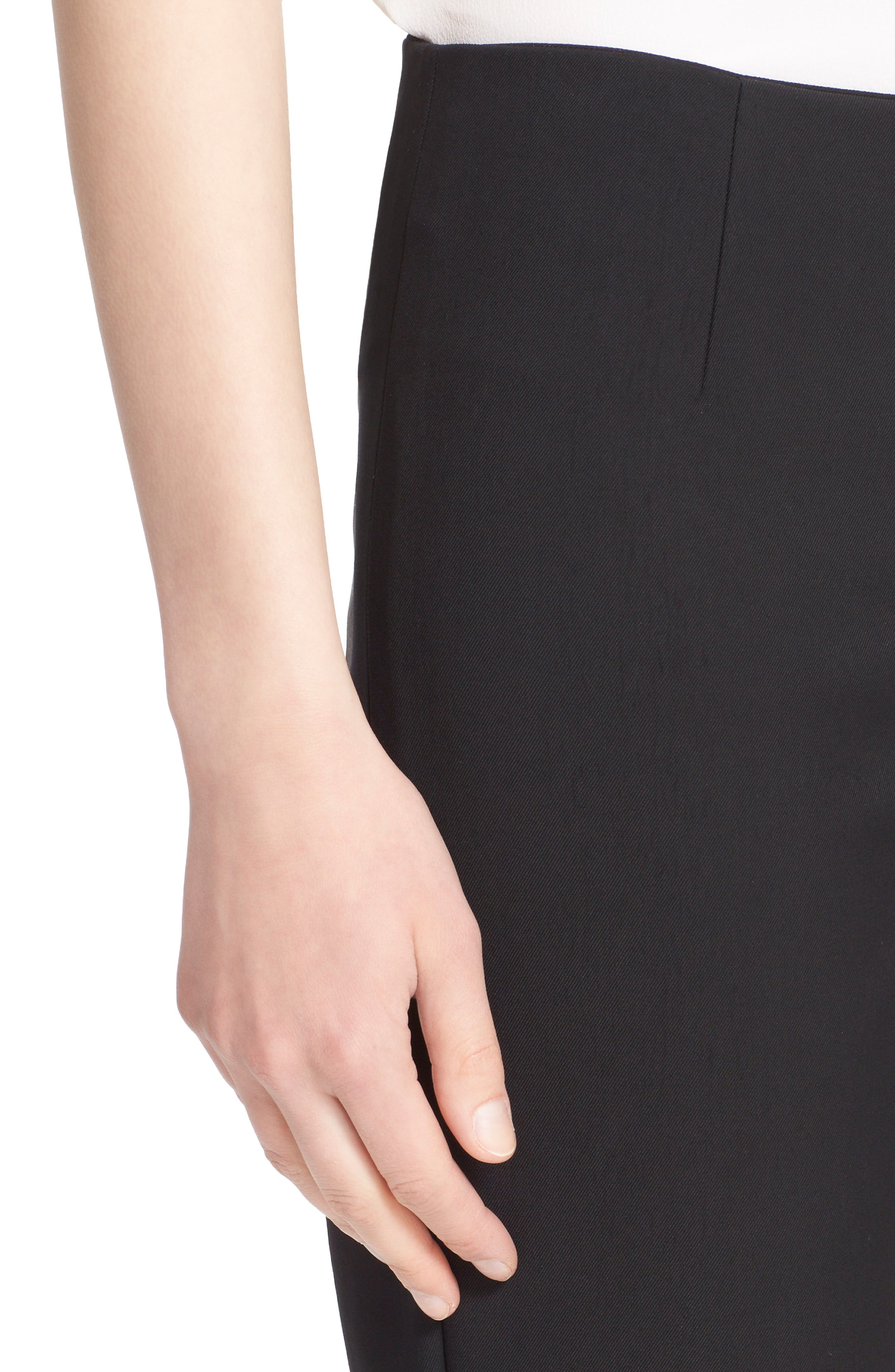 LELA ROSE,                             'Catherine' Stretch Twill Ankle Pants,                             Alternate thumbnail 4, color,                             BLACK