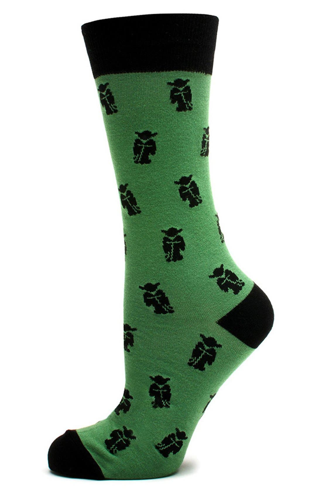 CUFFLINKS, INC.,                             'Star Wars - Yoda' Socks,                             Main thumbnail 1, color,                             300