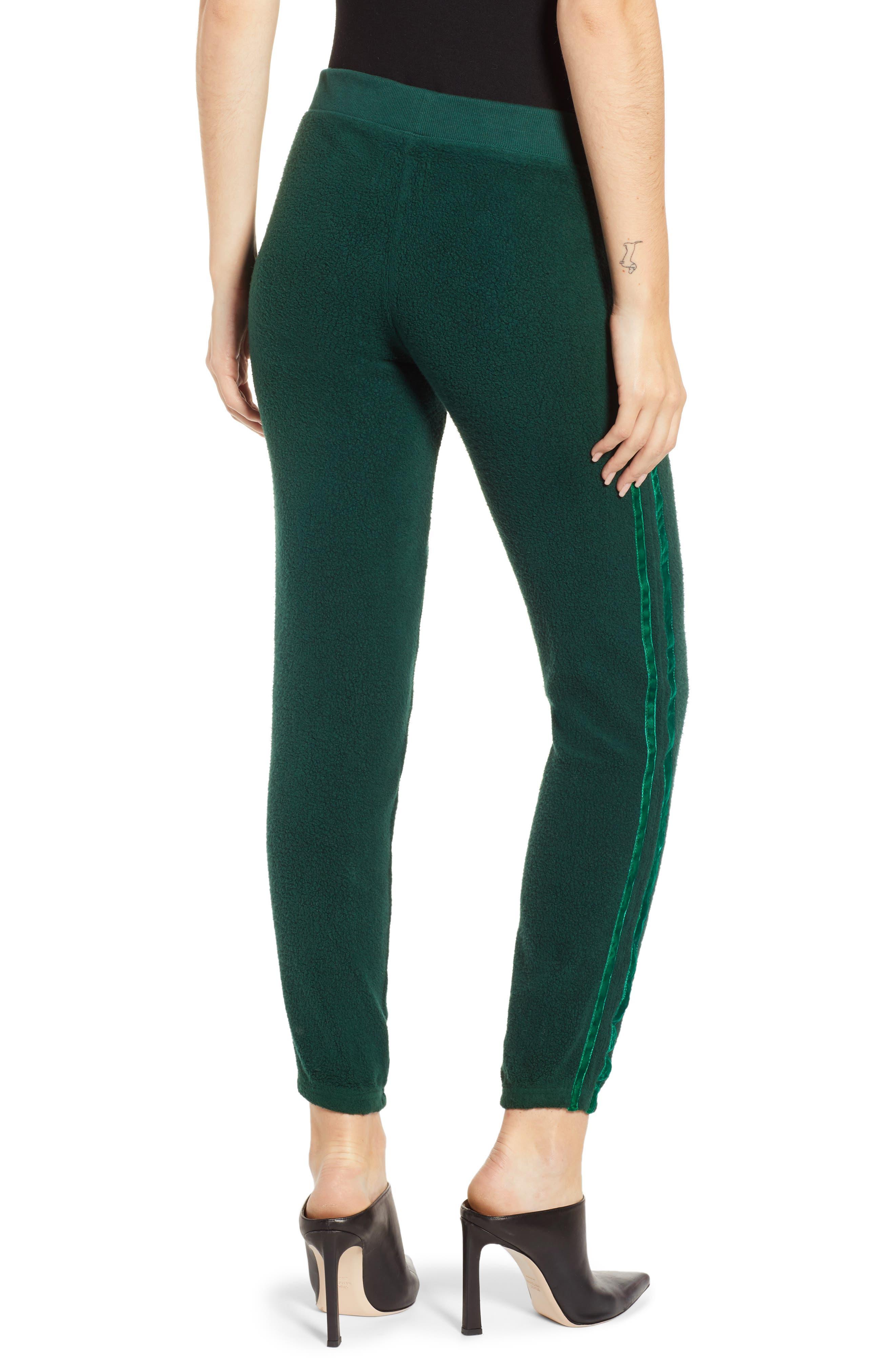 Velvet Stripe Sweatpants,                             Alternate thumbnail 2, color,                             BOTANICAL GREEN