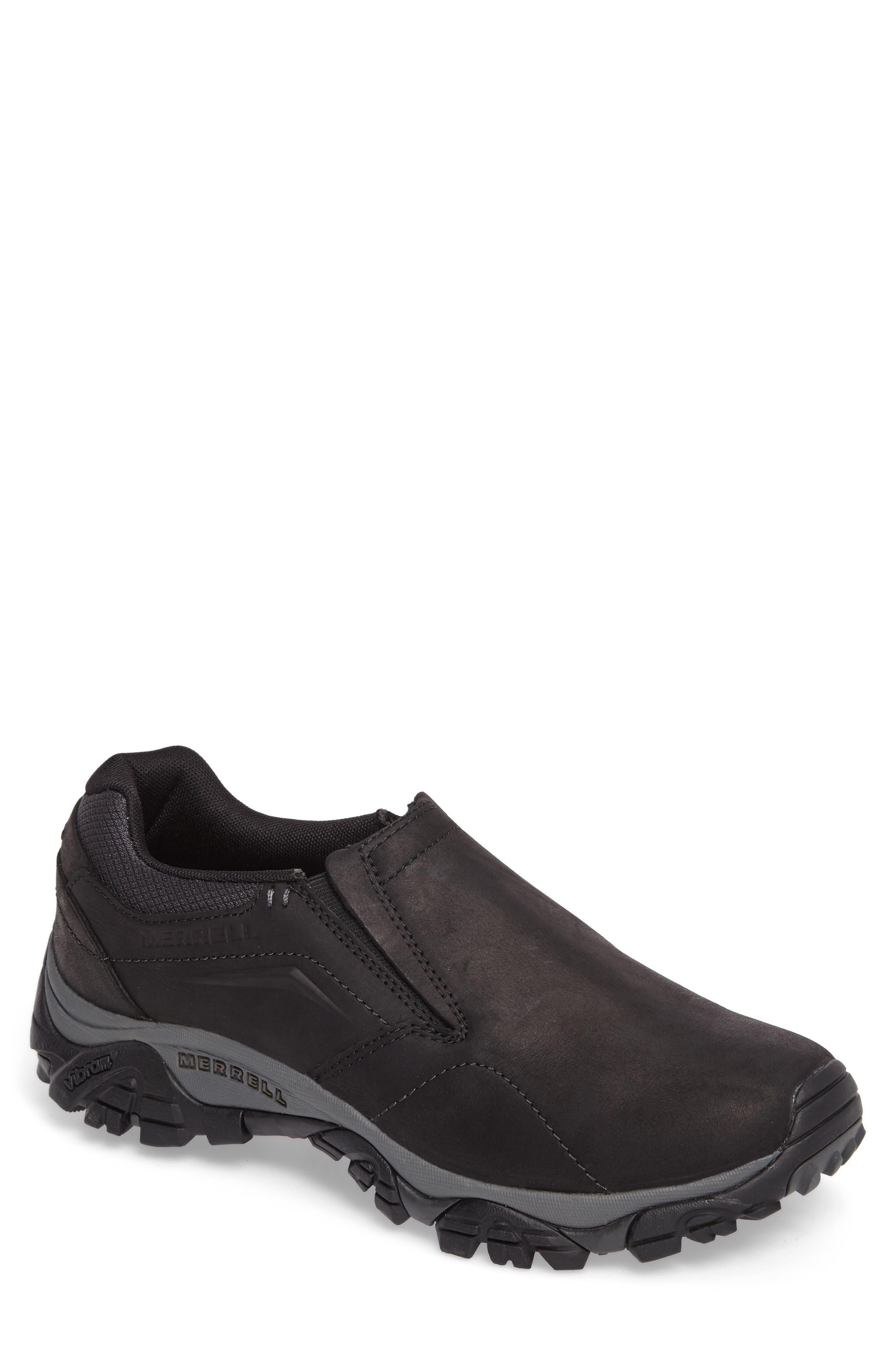 Moab Adventure Hiking Shoe,                         Main,                         color, BLACK NUBUCK LEATHER
