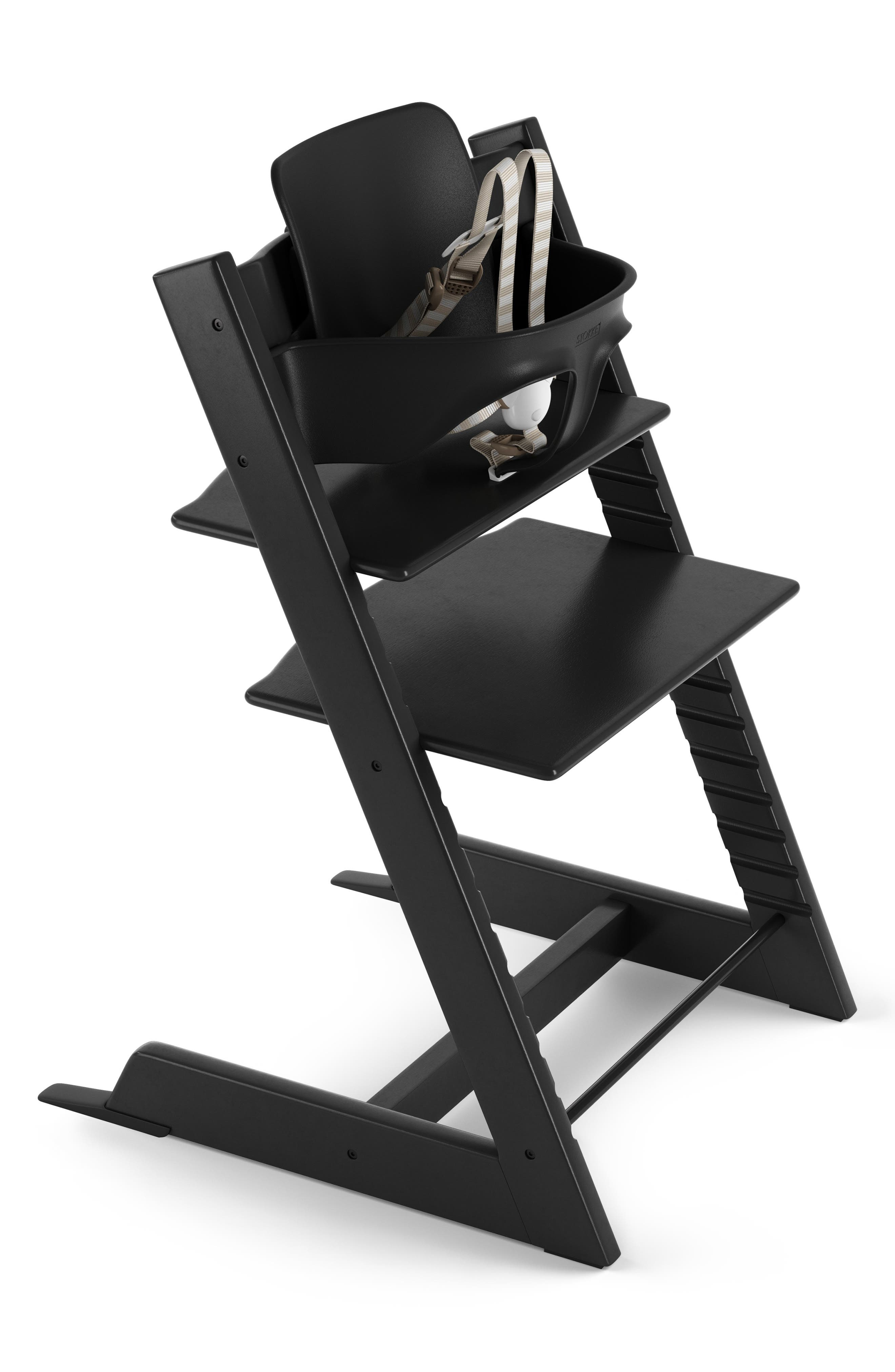 STOKKE Tripp Trapp<sup>®</sup> Chair & Baby Set, Main, color, BLACK