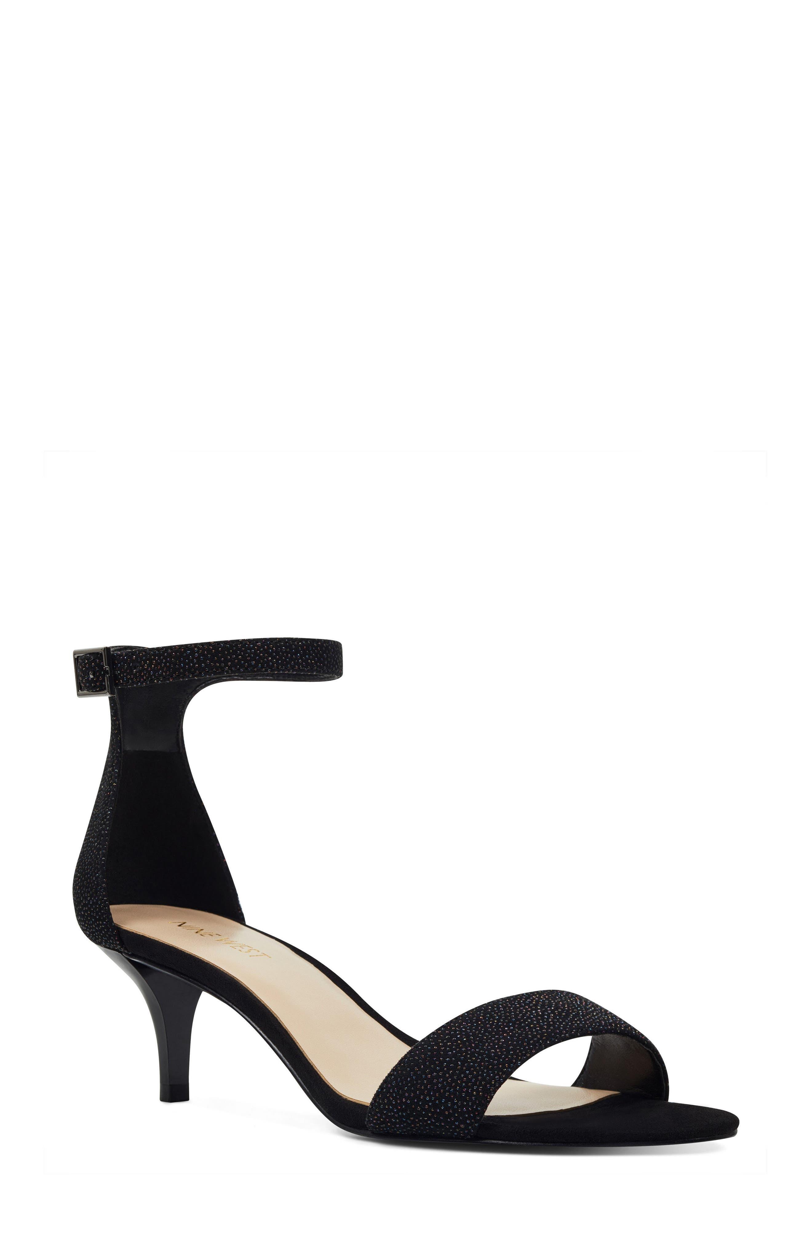 'Leisa' Ankle Strap Sandal,                         Main,                         color, BLACK MULTI LEATHER