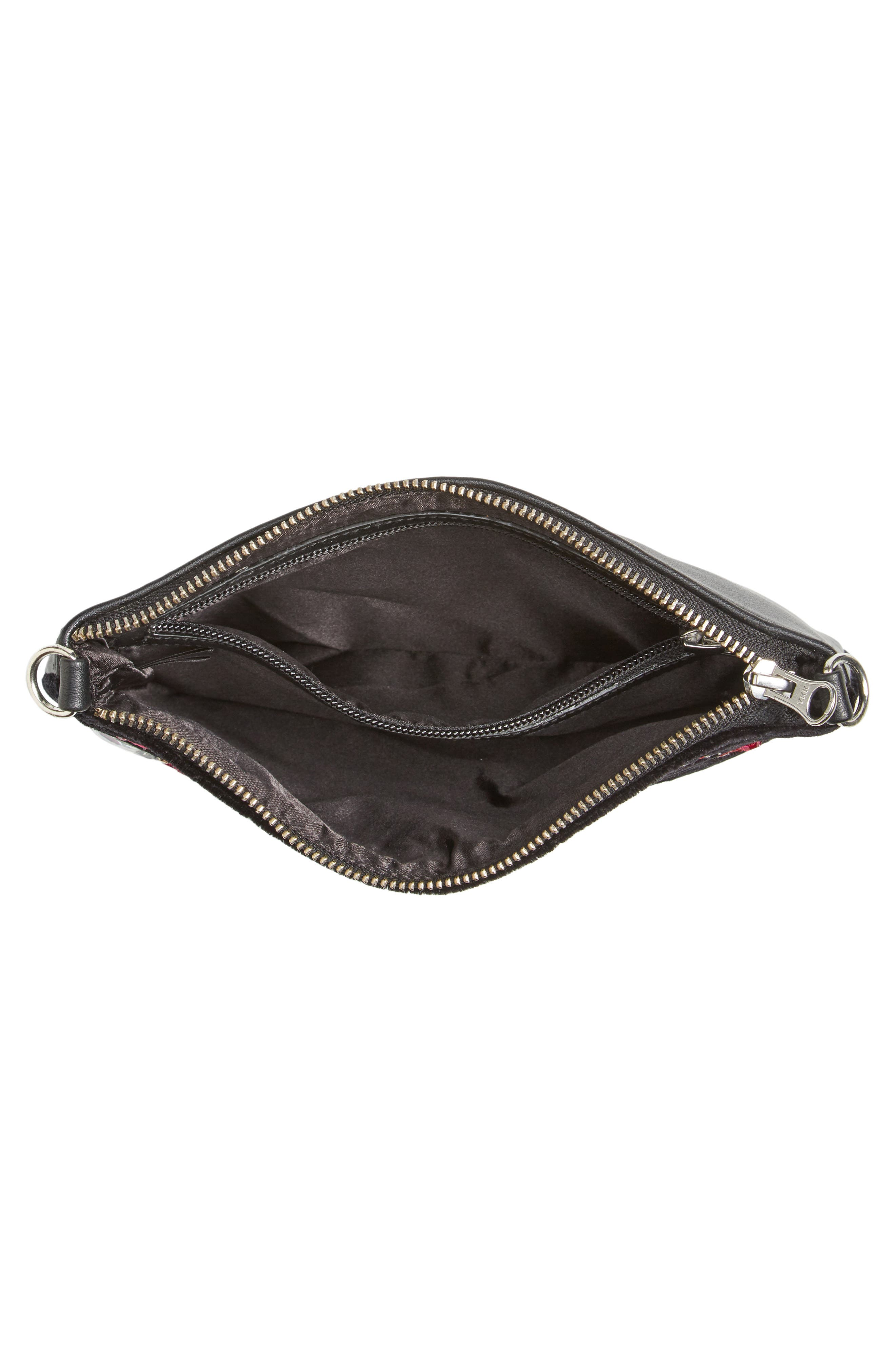 Embellished Faux Leather Clutch,                             Alternate thumbnail 4, color,                             960