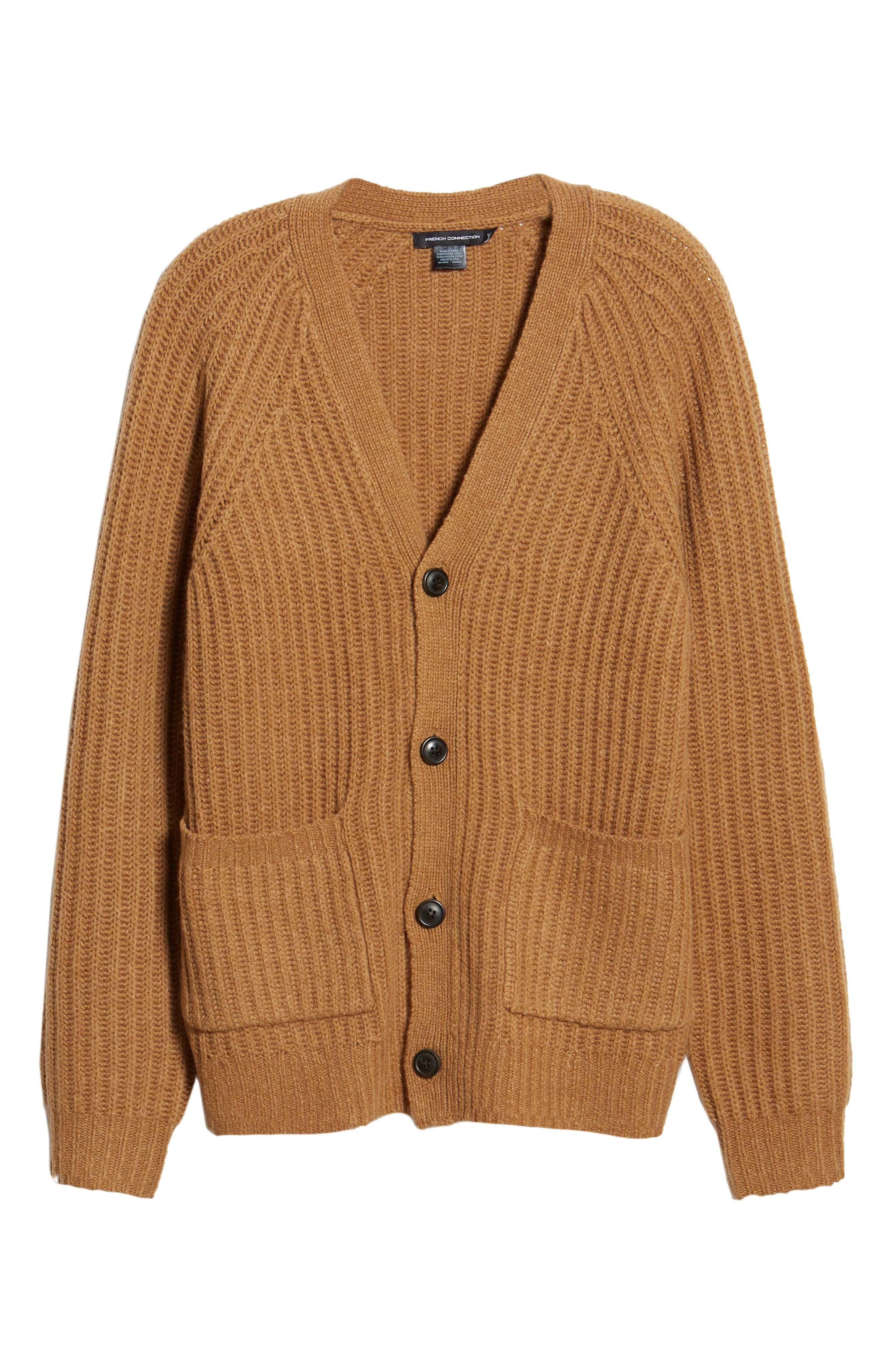 Supersoft Wool Blend Cardigan,                             Alternate thumbnail 6, color,                             RICH CAMEL