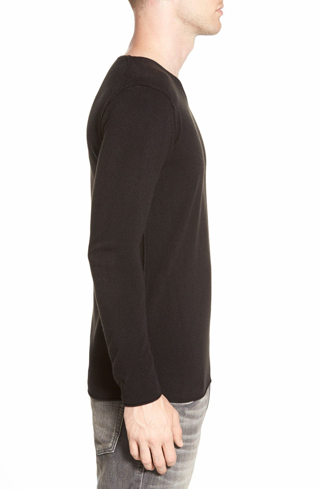AZUL BY MOUSSY,                             V-Neck Sweater,                             Alternate thumbnail 5, color,                             001