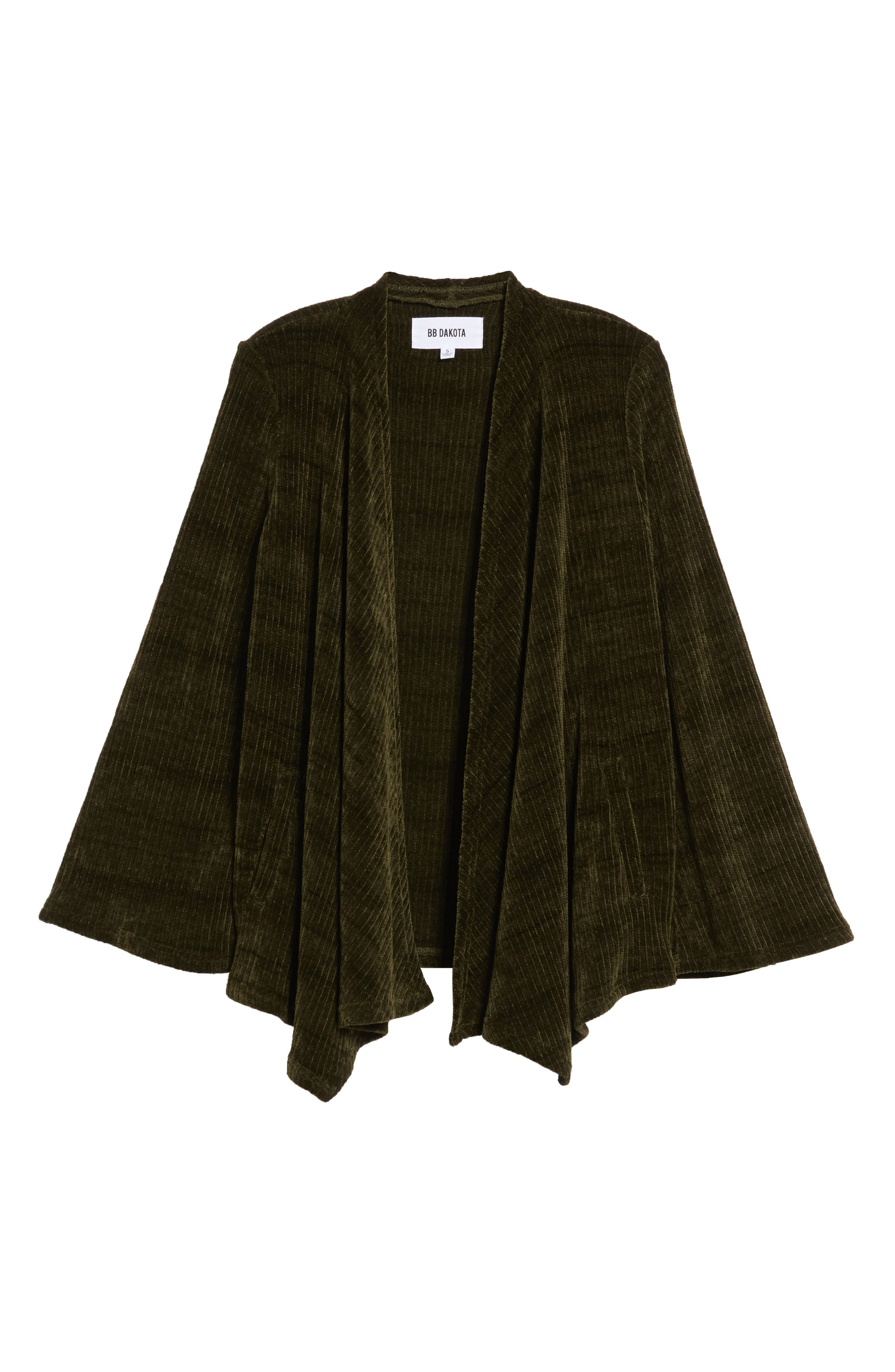 Chenille of Fortune Jacket,                             Alternate thumbnail 6, color,                             DARK GREEN