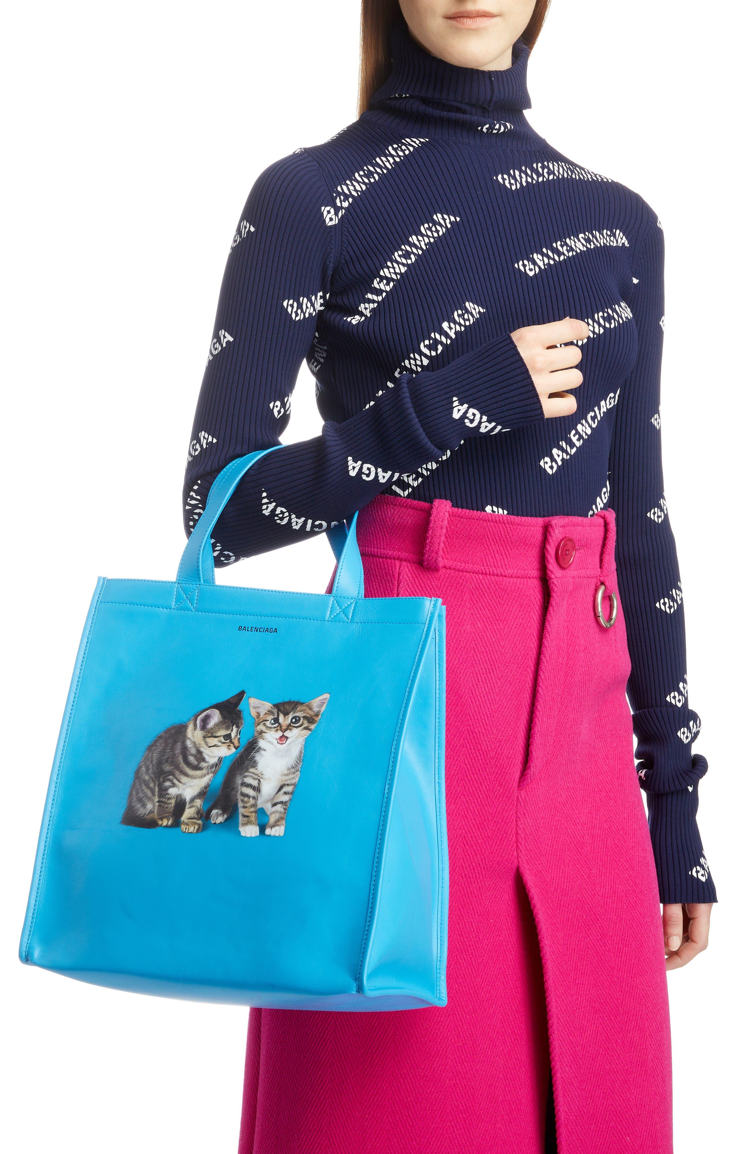Kittens Market Leather Shopper,                             Alternate thumbnail 2, color,                             489
