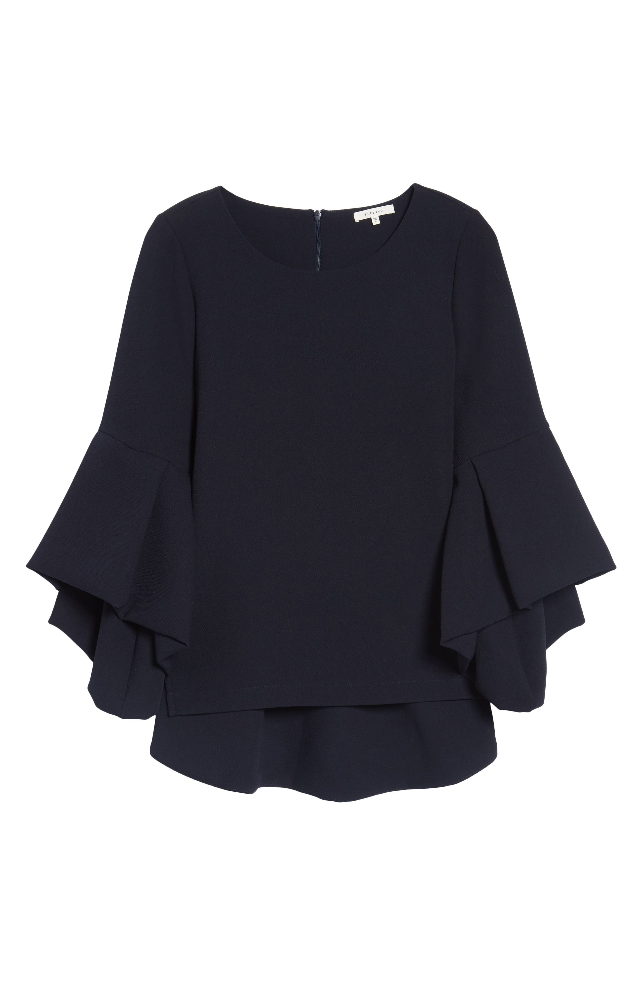 Bell Sleeve High/Low Top,                             Alternate thumbnail 6, color,                             410