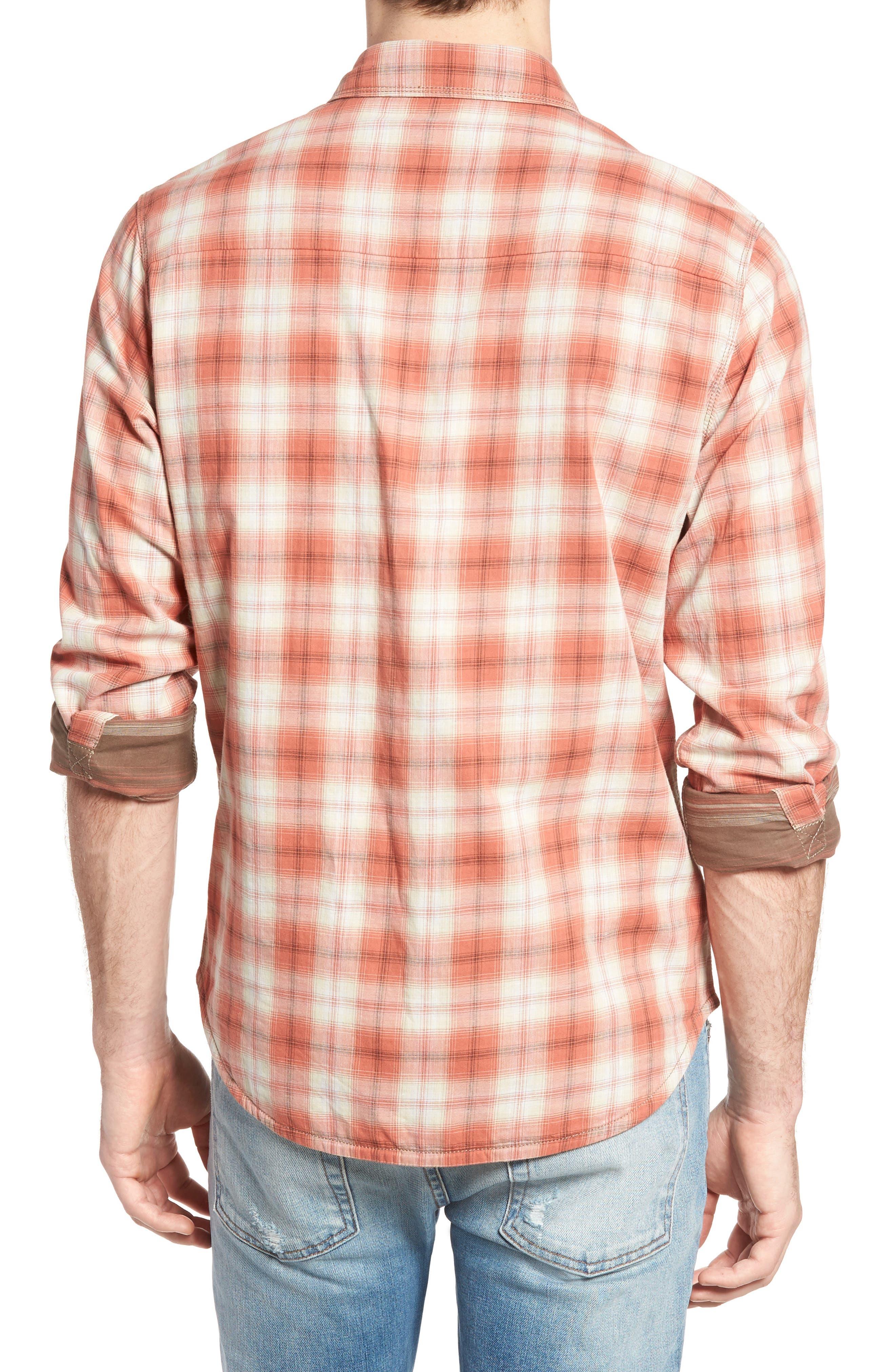 Vogel Regular Fit Reversible Plaid Sport Shirt,                             Alternate thumbnail 2, color,                             201