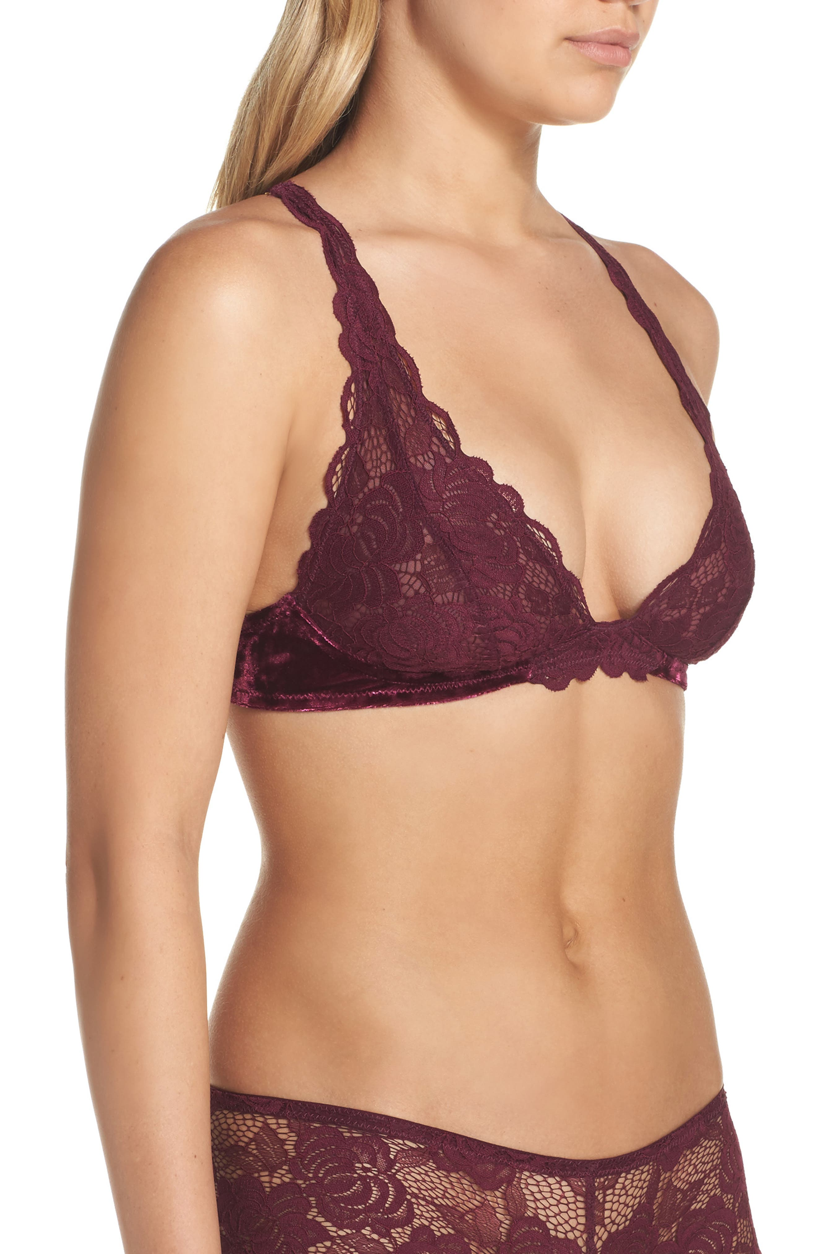 Wireless Convertible Plunge Bralette,                             Alternate thumbnail 8, color,