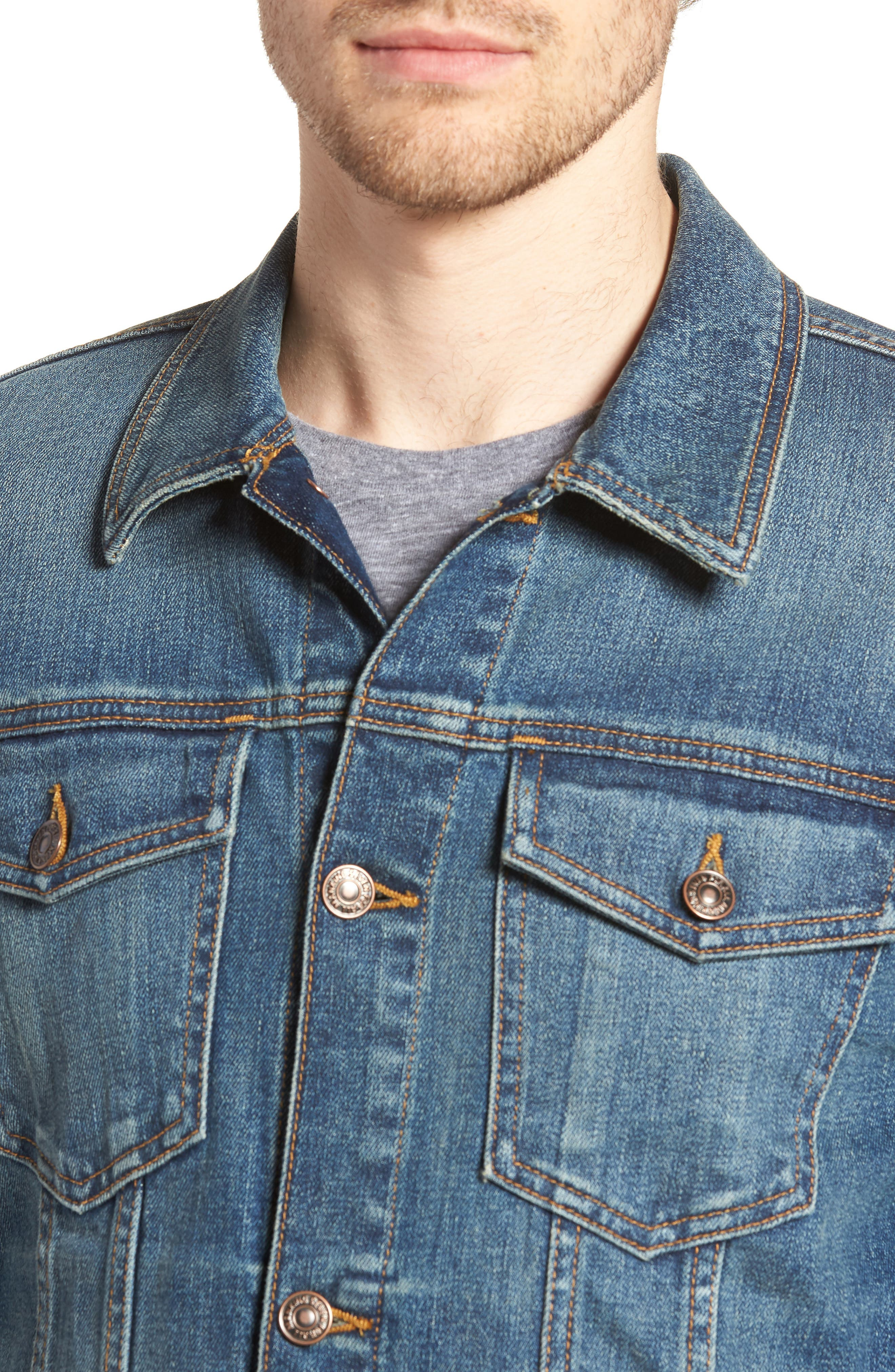 7 FOR ALL MANKIND<SUP>®</SUP>,                             Trucker Jacket,                             Alternate thumbnail 4, color,                             400