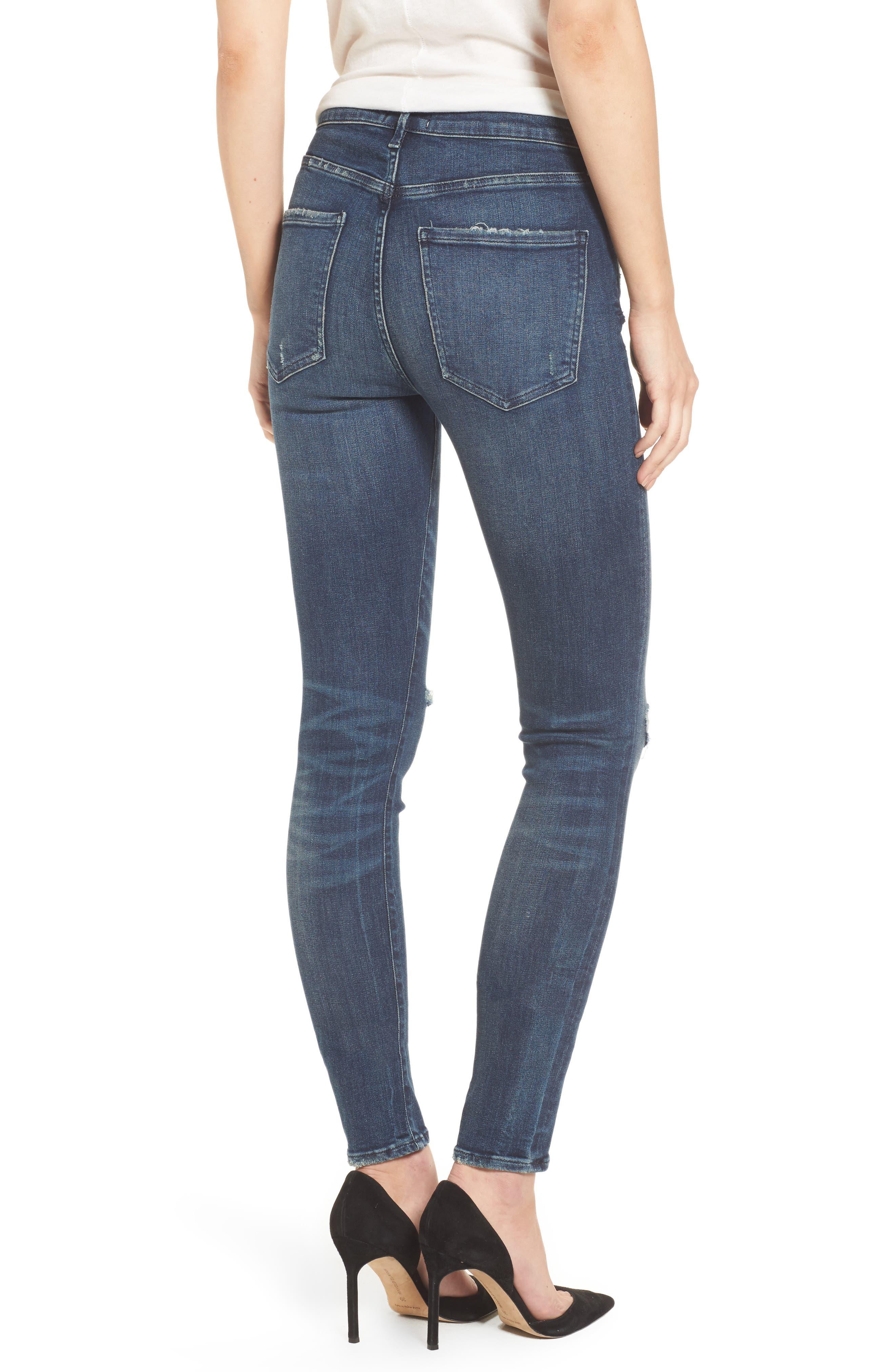 Sophie High Waist Skinny Jeans,                             Alternate thumbnail 4, color,