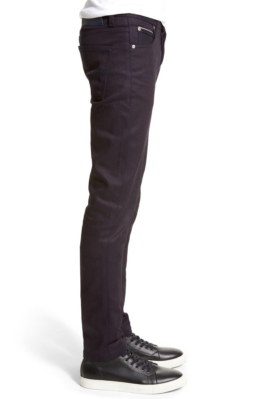 Super Skinny Guy Skinny Fit Jeans,                             Alternate thumbnail 2, color,                             INDIGO STRETCH SELVEDGE