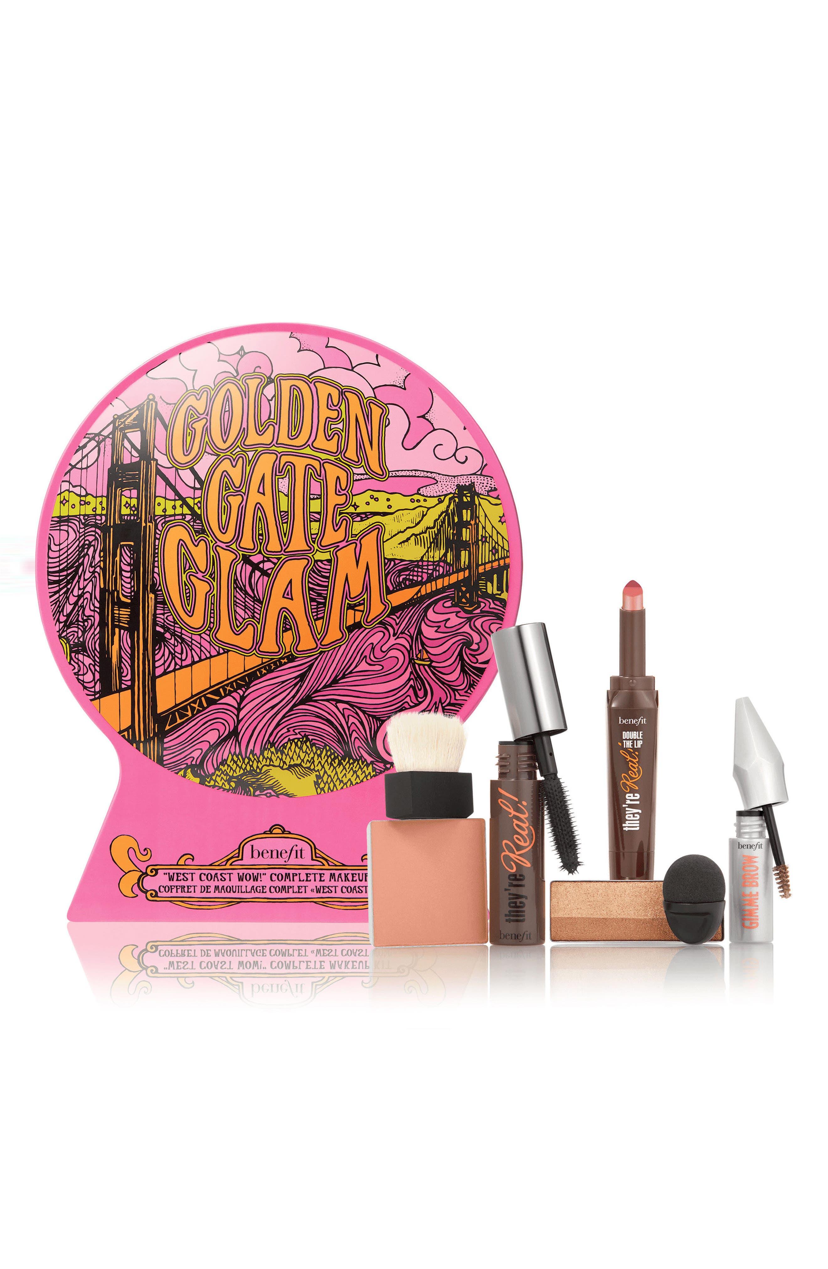 Benefit Golden Gate Glam Complete Makeup Kit,                             Main thumbnail 1, color,                             000