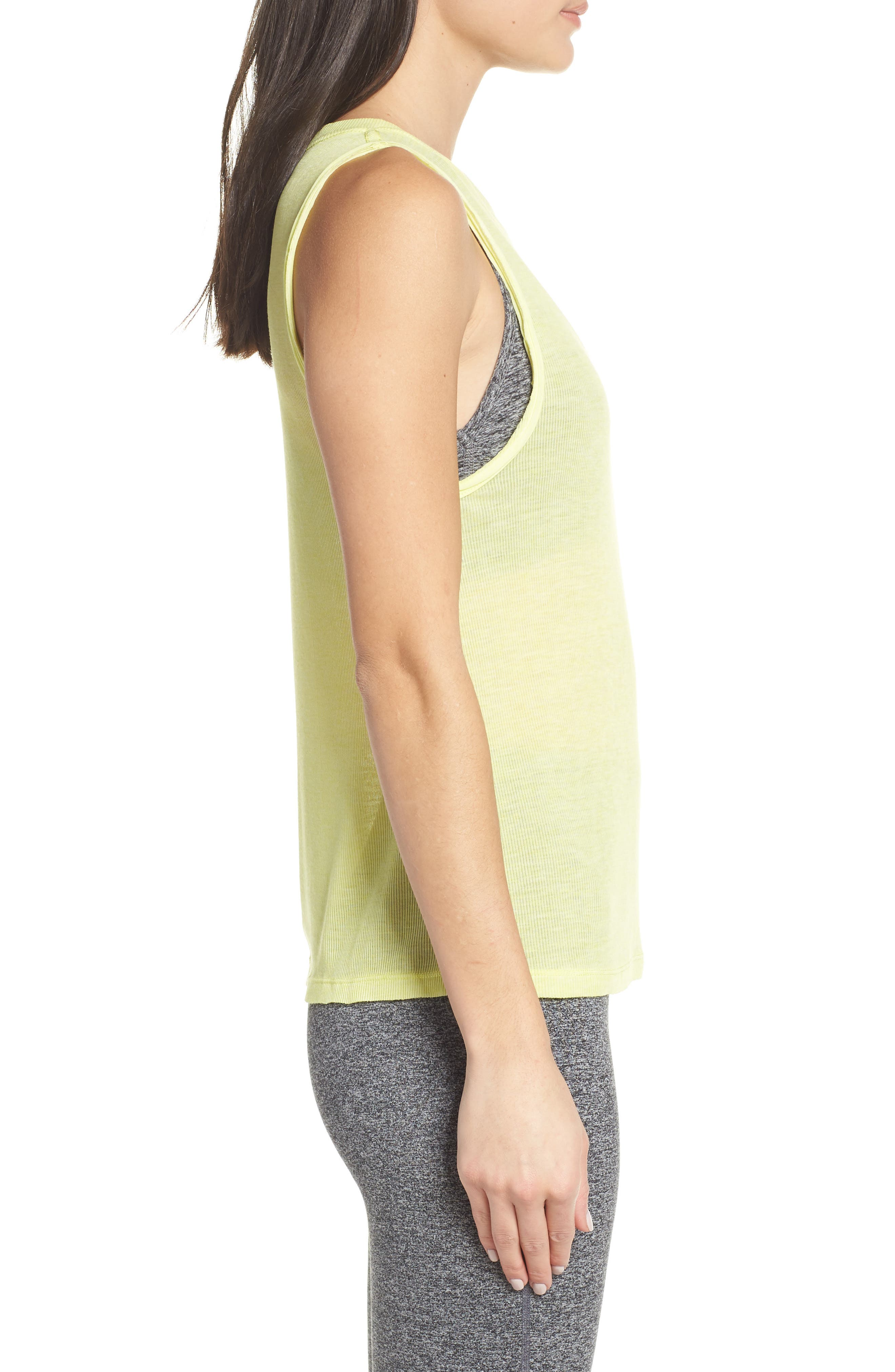 FREE PEOPLE MOVEMENT,                             Om Tank,                             Alternate thumbnail 3, color,                             LIME