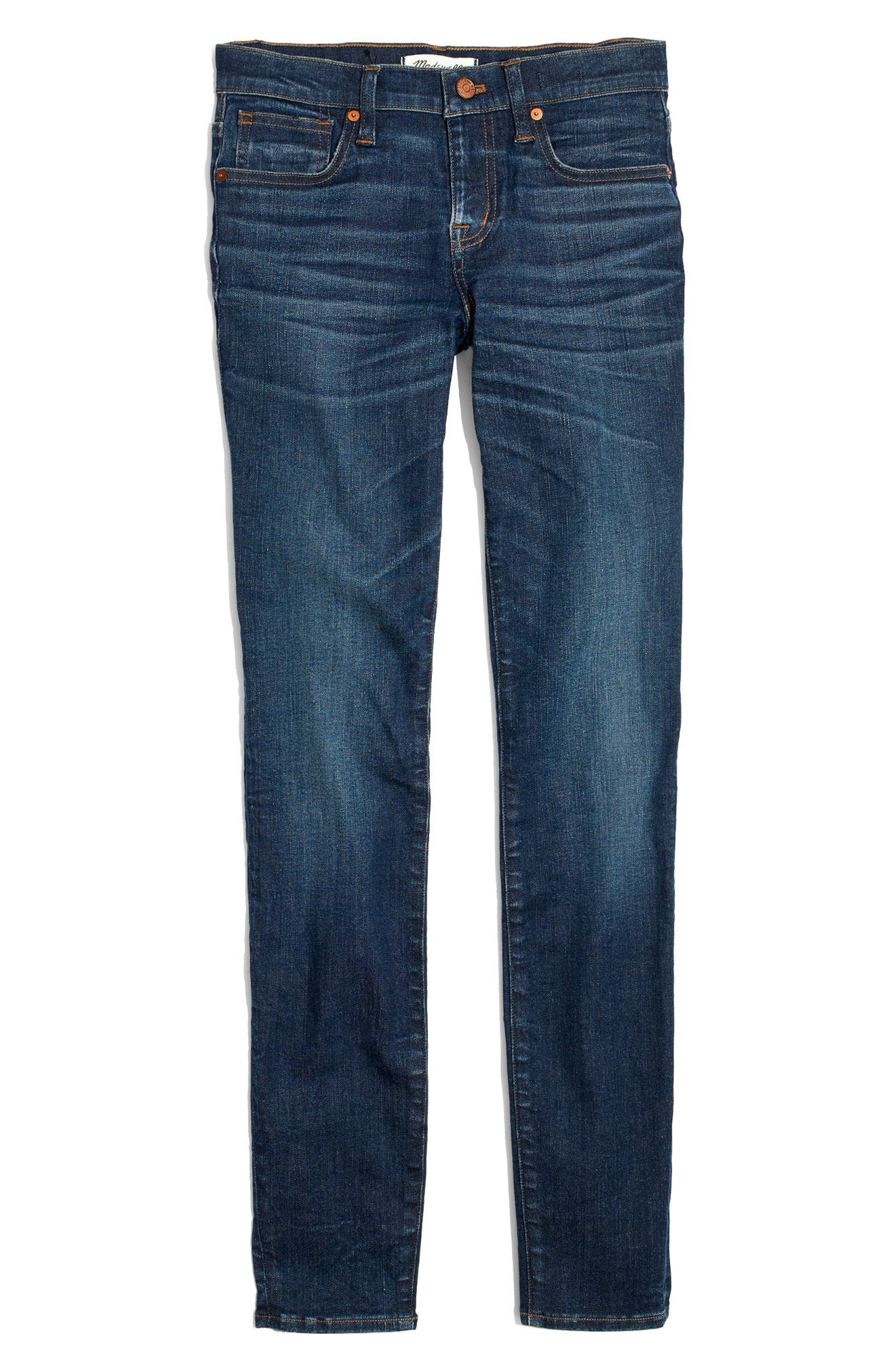 MADEWELL,                             8-Inch Skinny Jeans,                             Alternate thumbnail 4, color,                             400